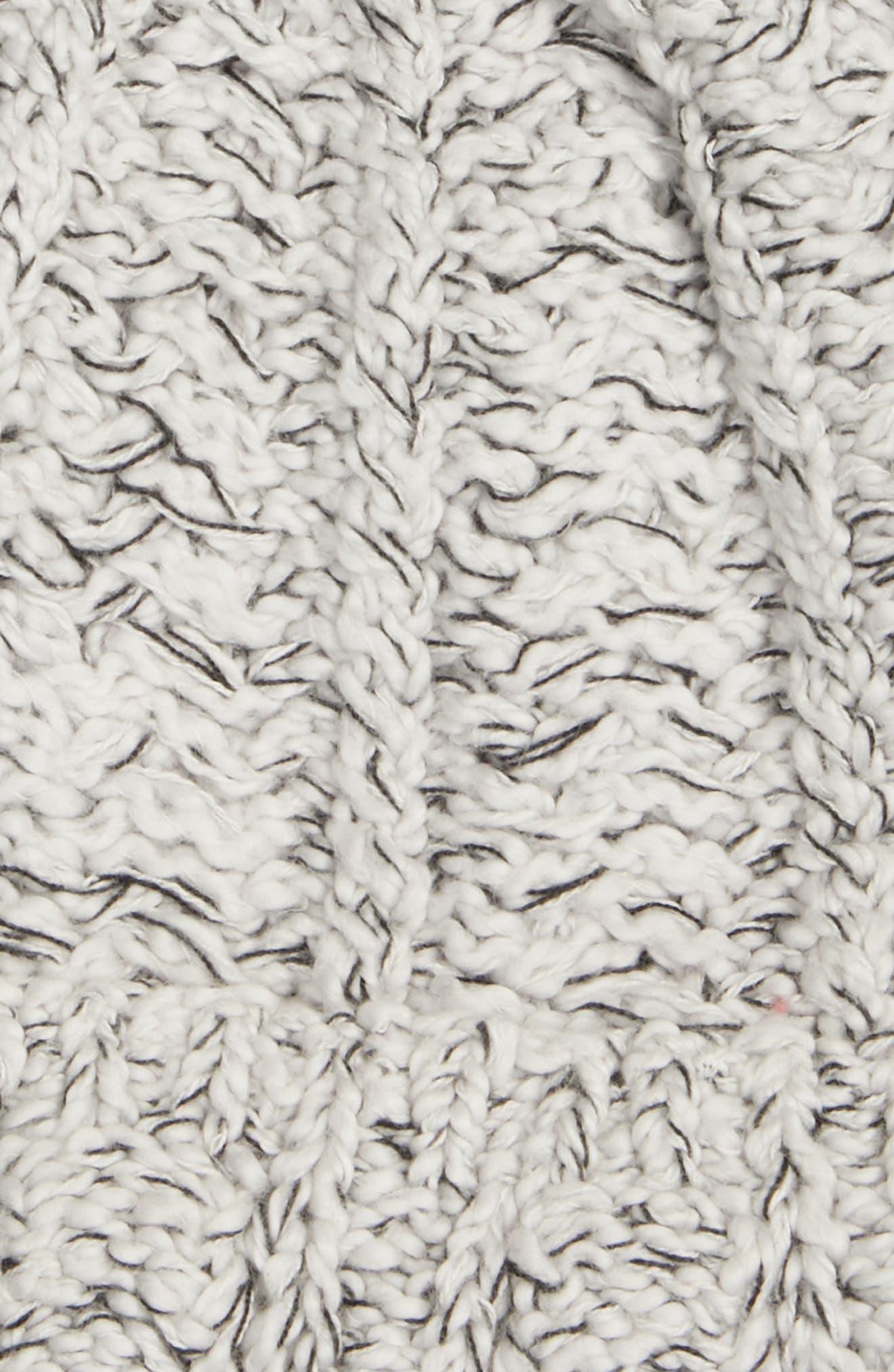 Marled Organic Cotton Beanie,                             Alternate thumbnail 2, color,                             PEARL