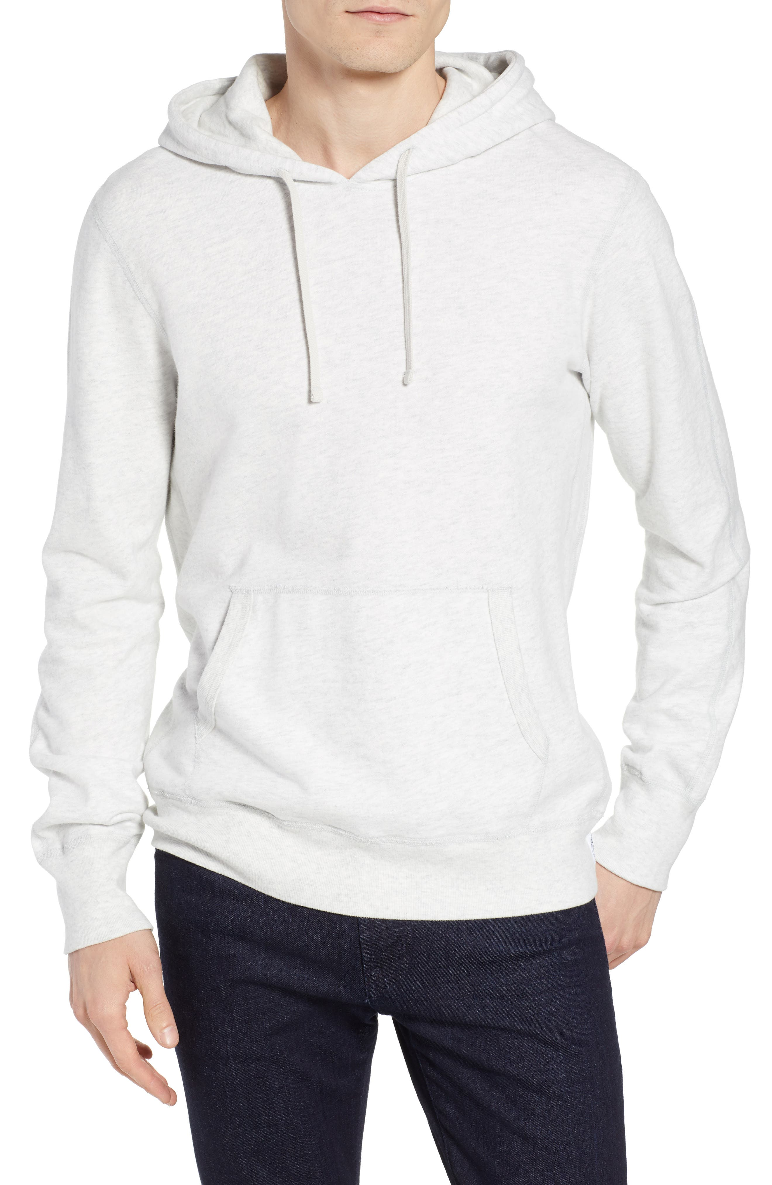 Lightweight Terry Pullover Hoodie,                         Main,                         color, HEATHER ASH