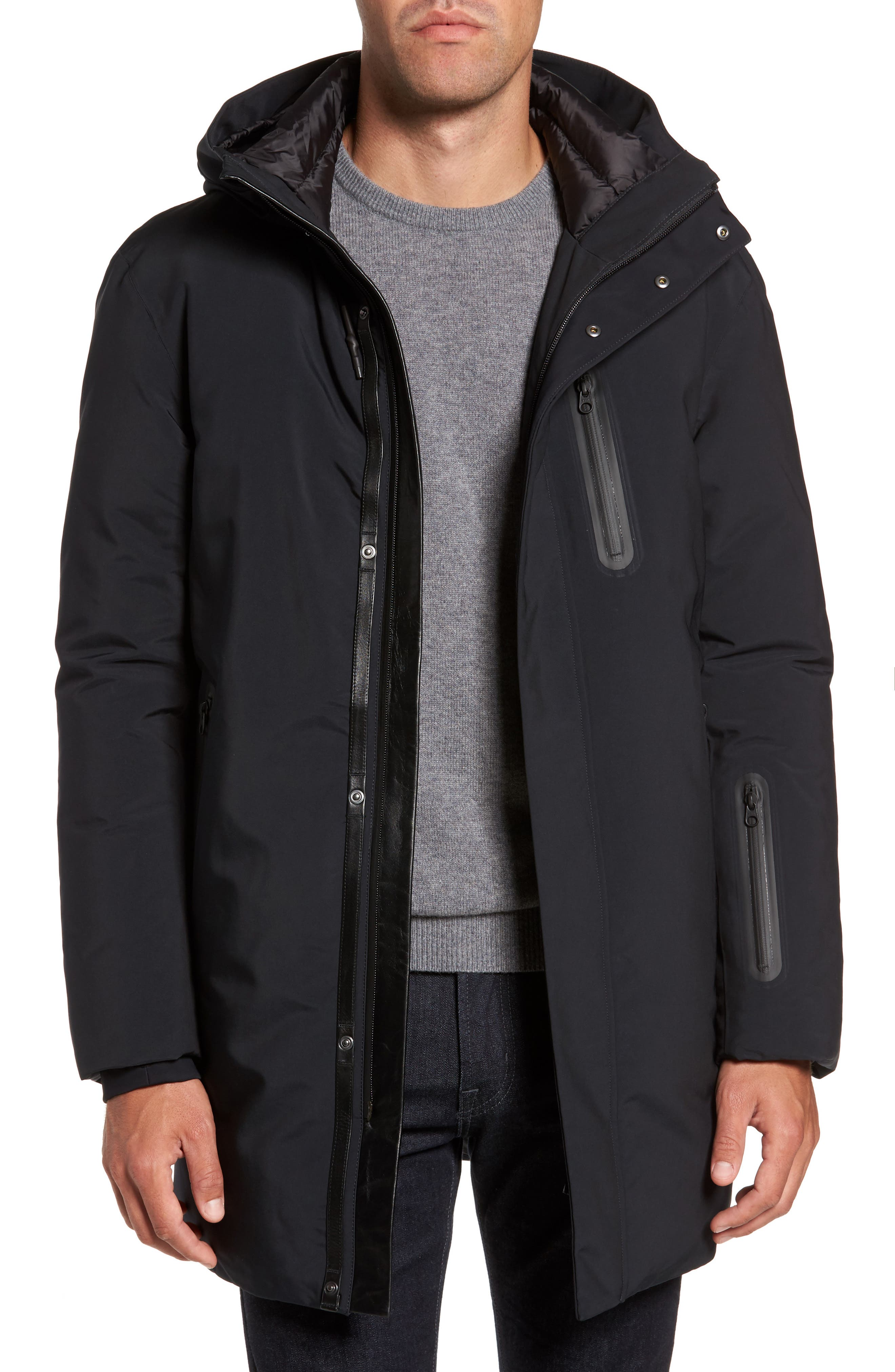 MACKAGE Chano Hooded Down Jacket, Main, color, 001