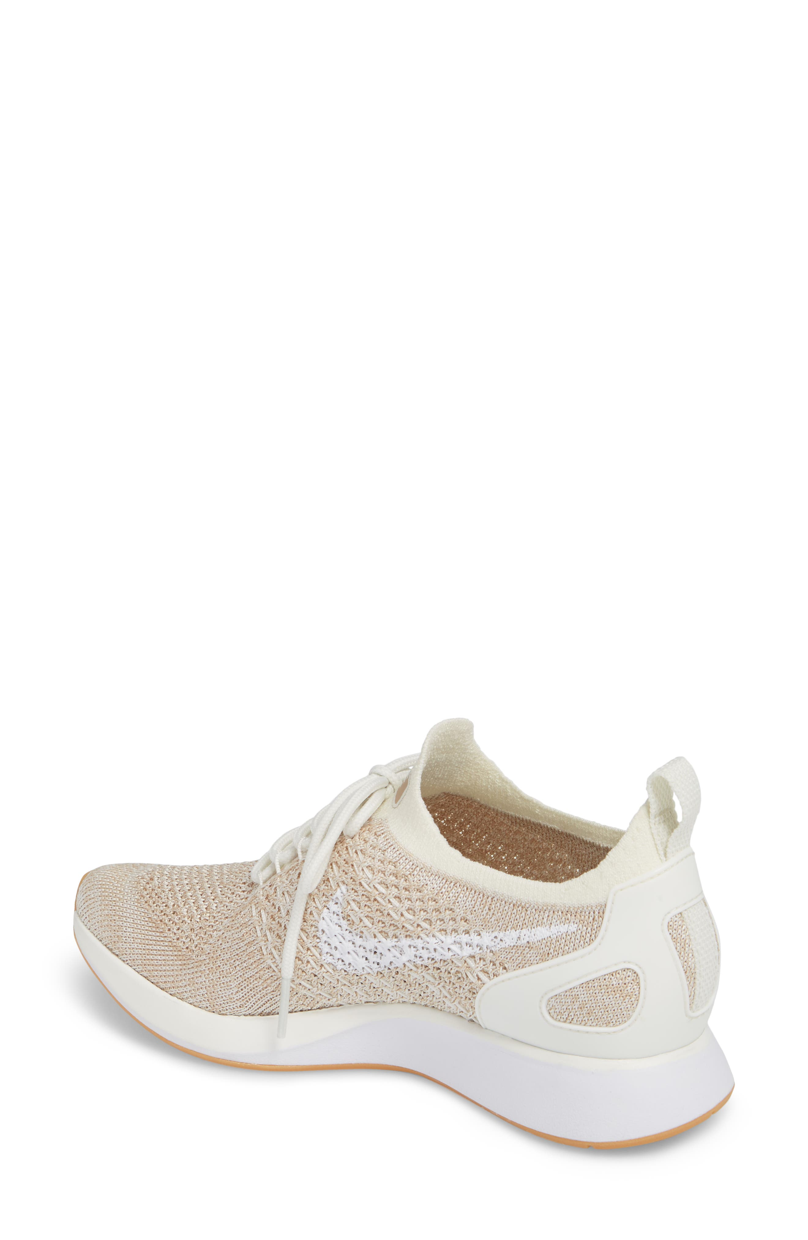 Air Zoom Mariah Flyknit Racer Sneaker,                             Alternate thumbnail 2, color,                             SAIL/ WHITE/ SAND