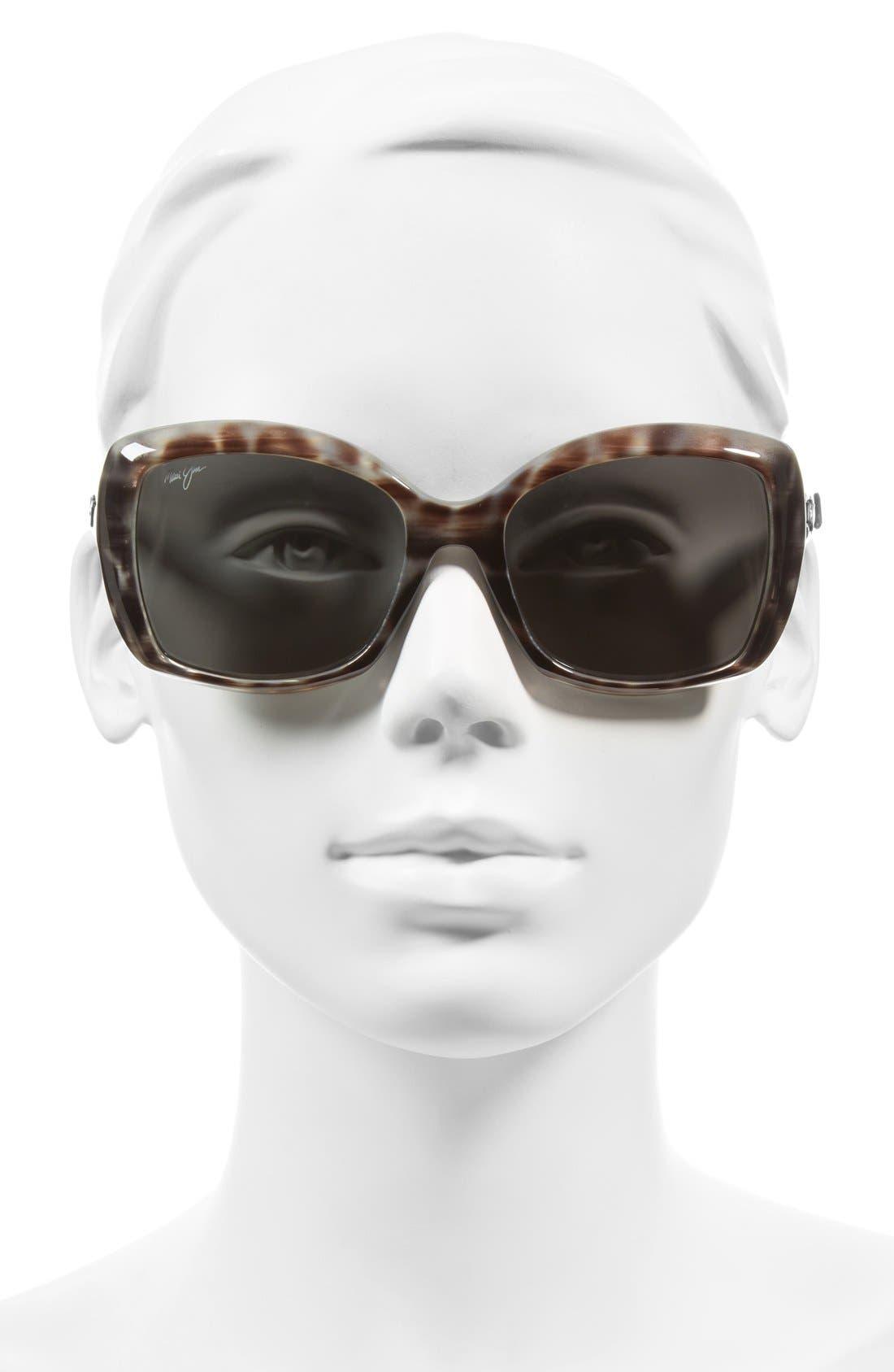 Orchid 56mm PolarizedPlus2<sup>®</sup> Sunglasses,                             Alternate thumbnail 2, color,                             GREY TORTOISE STRIPE/ GREY