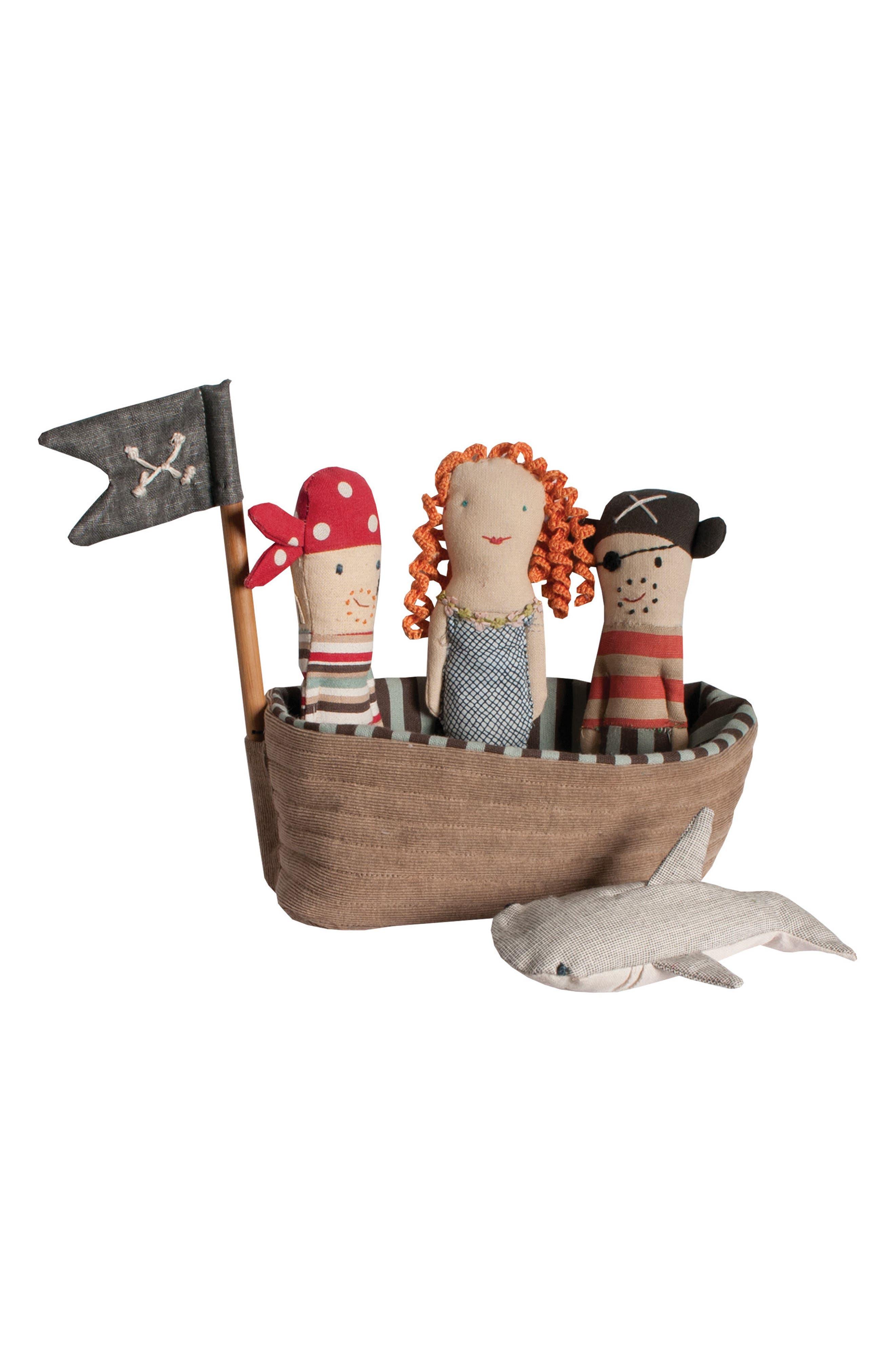 Pirate Ship Rattle 5-Piece Play Set,                             Main thumbnail 1, color,                             200