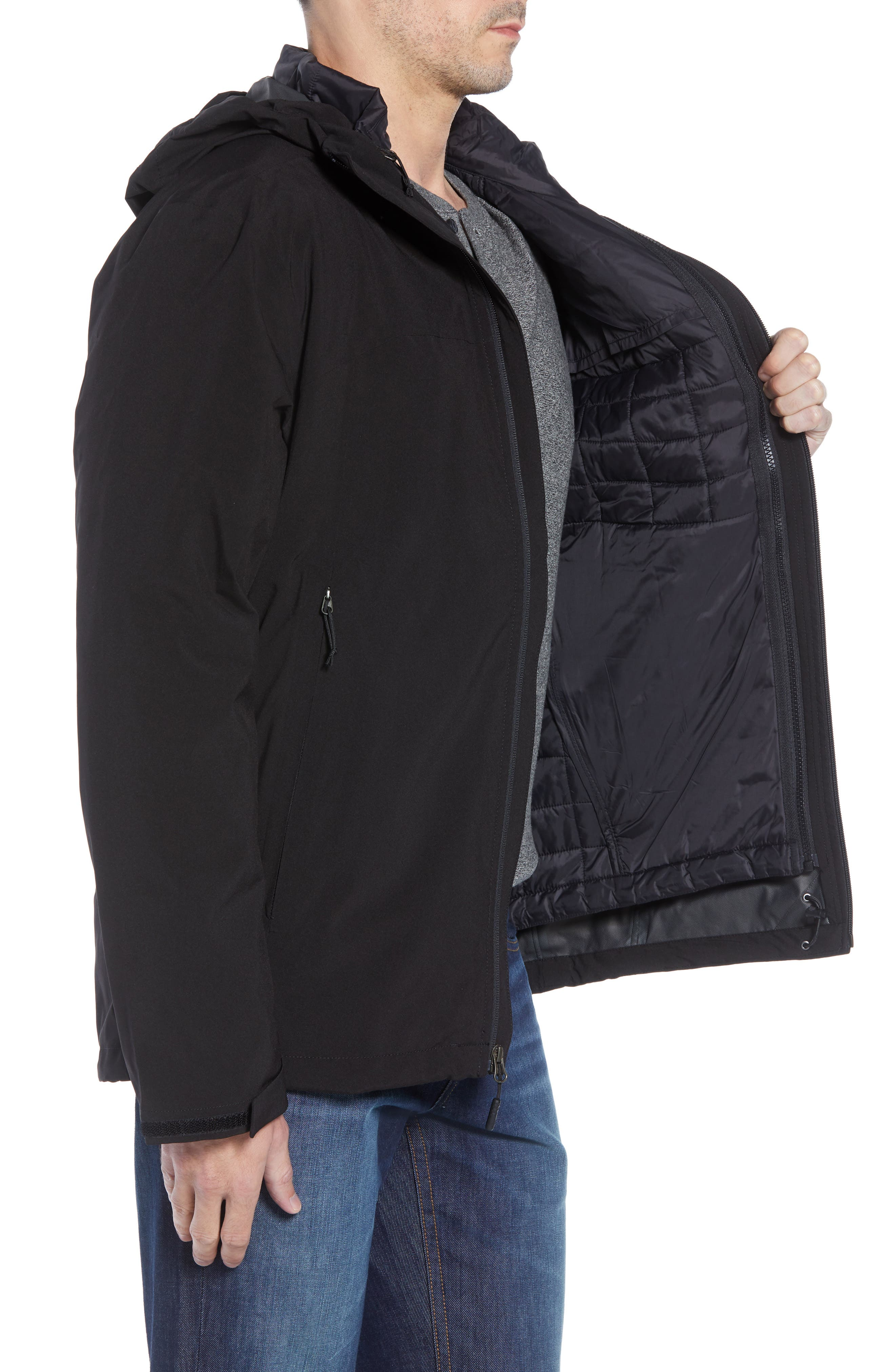 ThermoBall TriClimate<sup>®</sup> 3-in-1 Jacket,                             Alternate thumbnail 4, color,                             TNF BLACK/TNF BLACK
