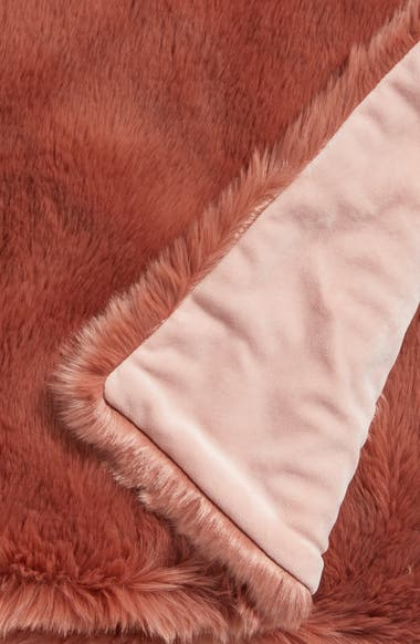 6ce8b3503f Nordstrom at Home Cuddle Up Faux Fur Throw Blanket