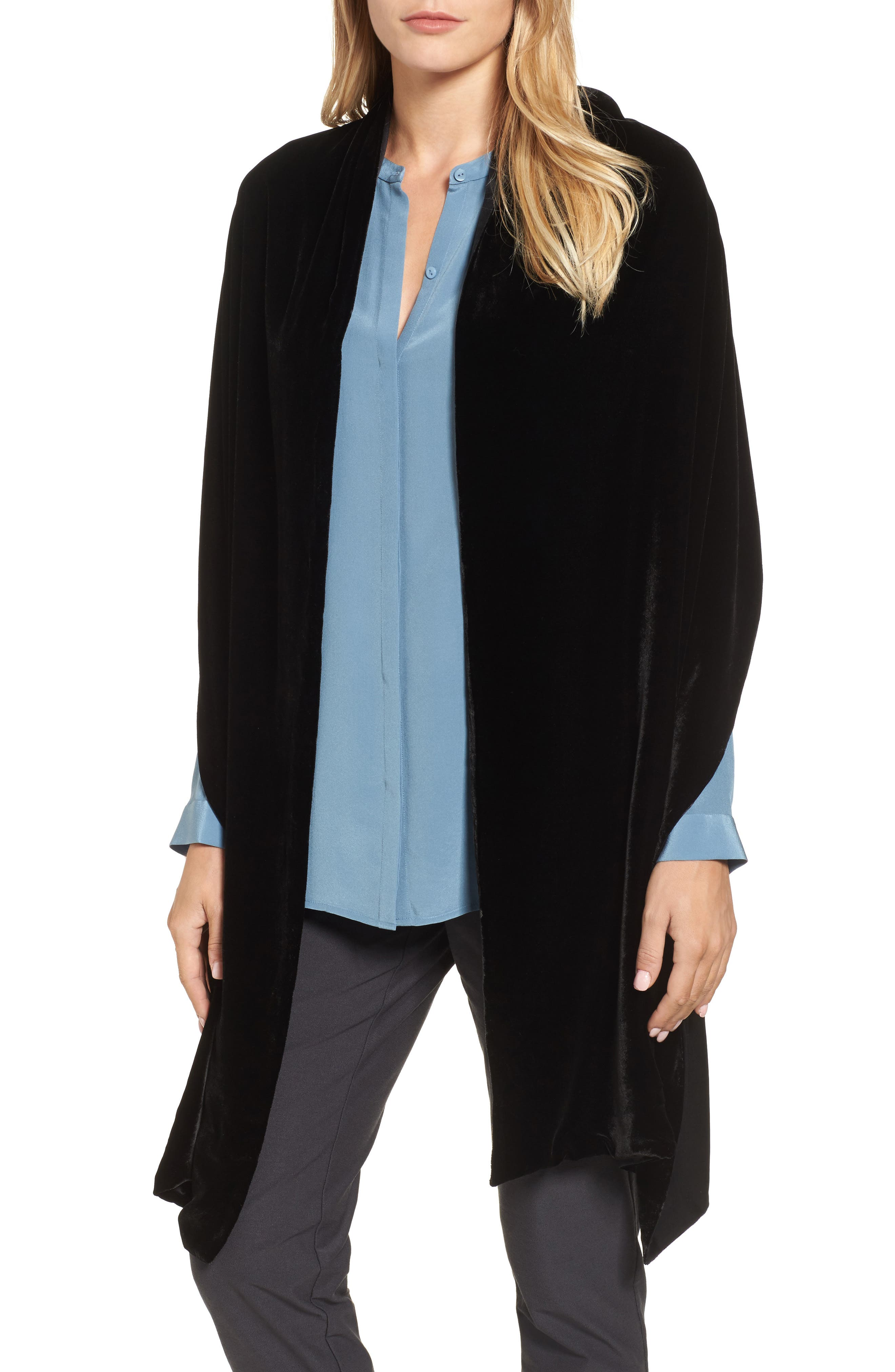 Velvet Wrap,                         Main,                         color, 001