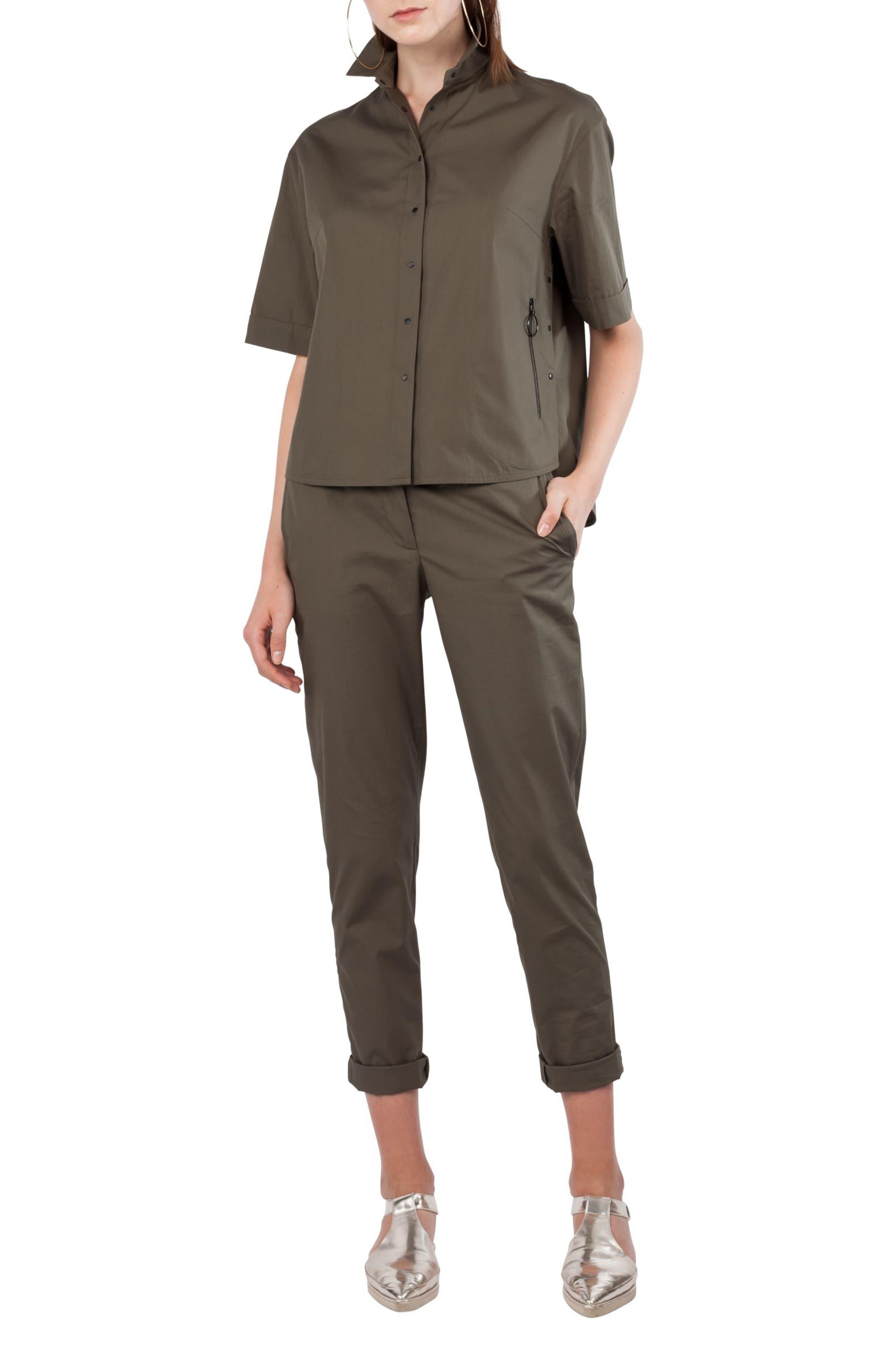 Kent Collar Cotton Shirt,                         Main,                         color,