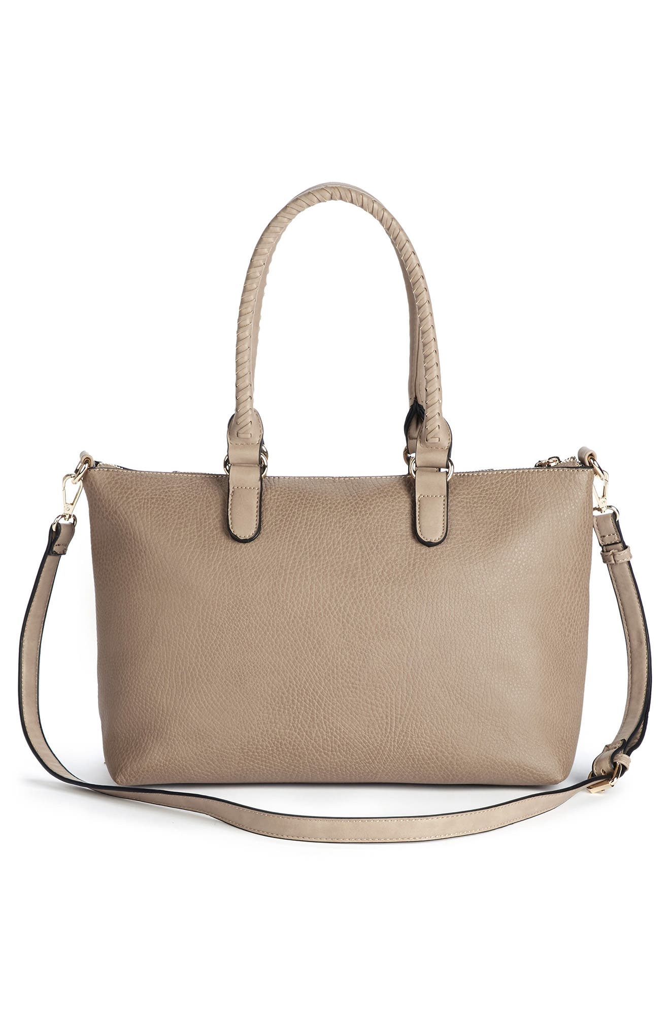 Girard Faux Leather Satchel,                             Alternate thumbnail 9, color,