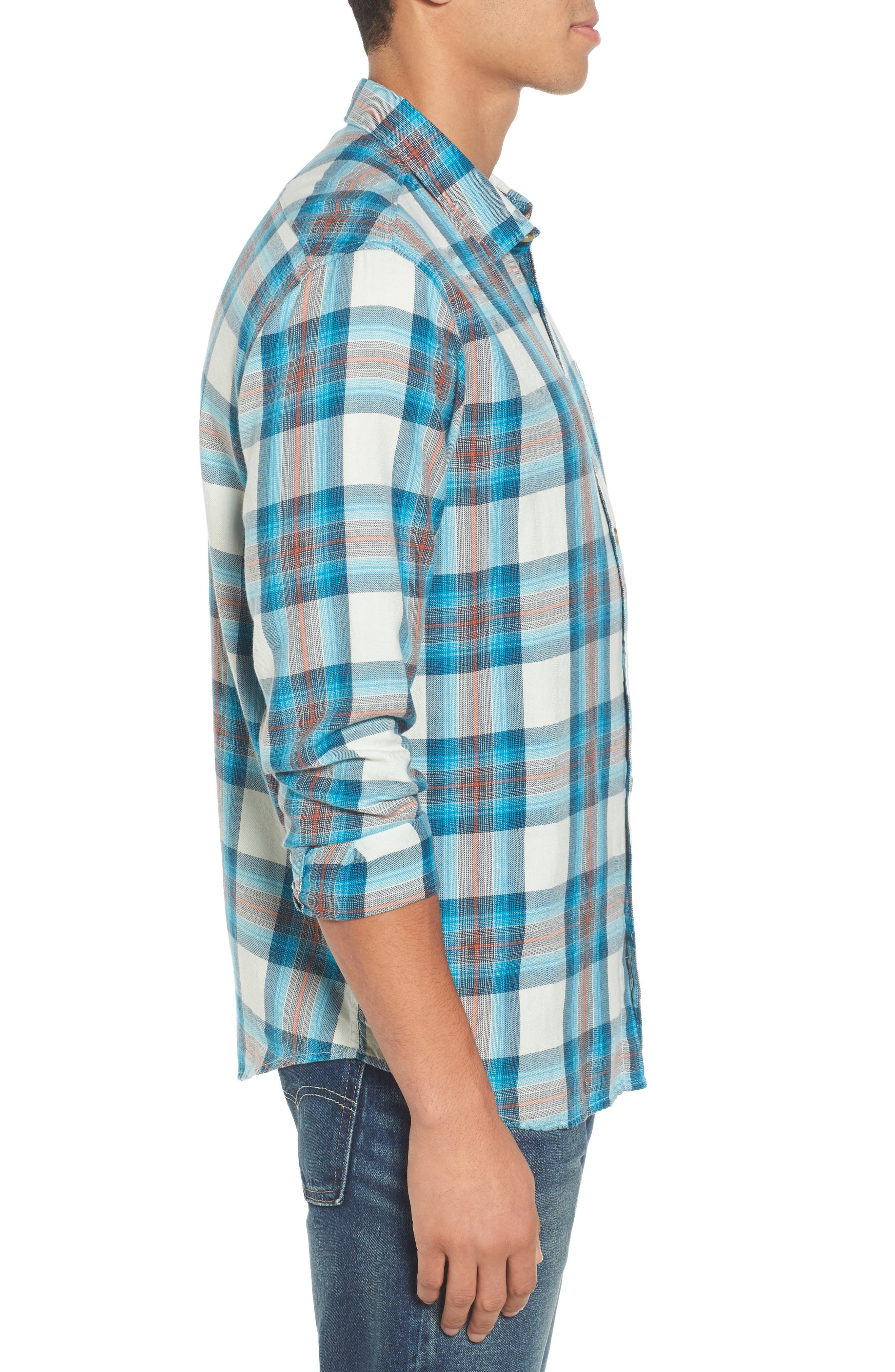 Freemont Flannel Shirt,                             Alternate thumbnail 3, color,                             020