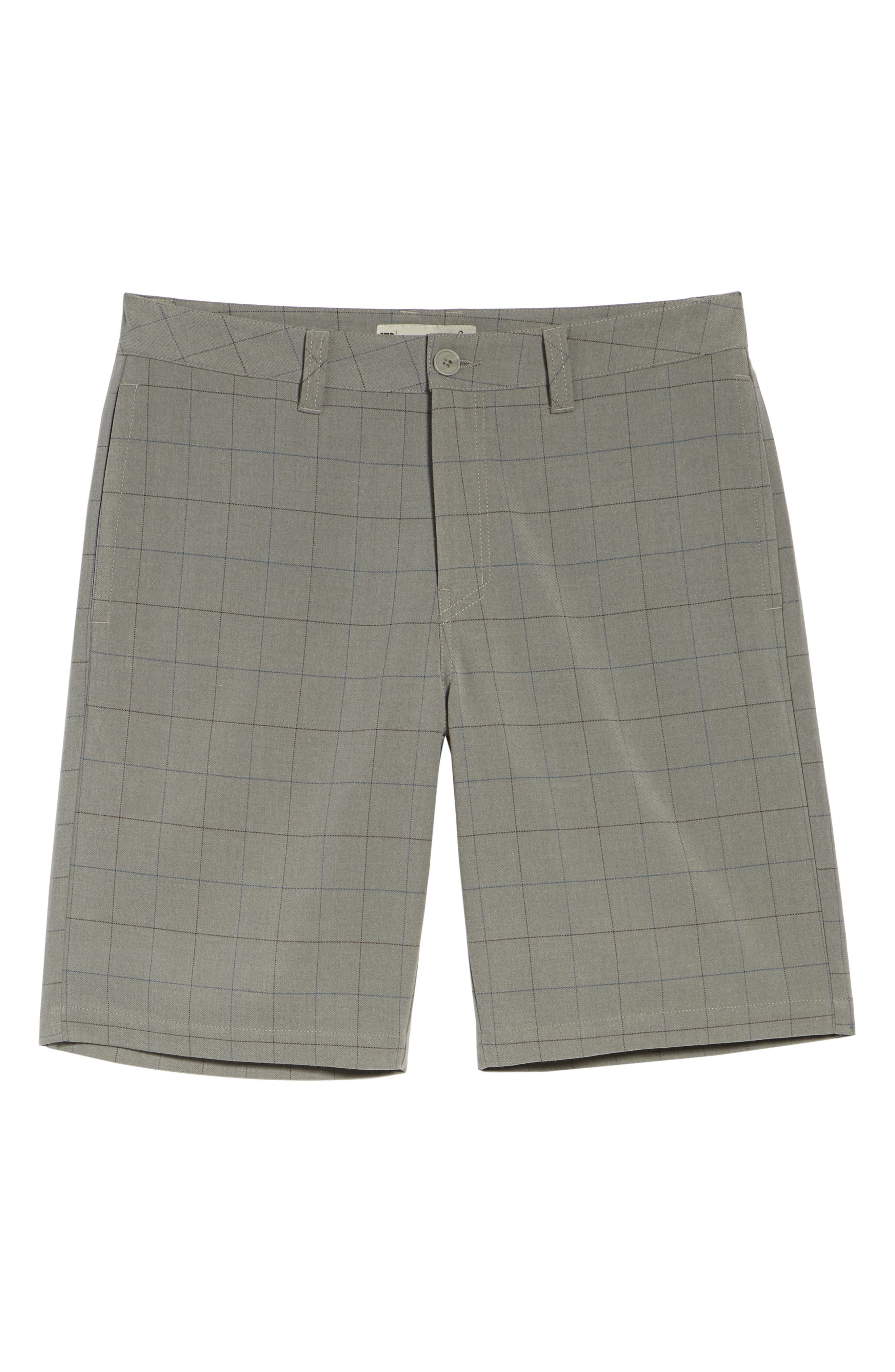 Rickles Regular Fit Shorts,                             Alternate thumbnail 6, color,                             HEATHER SHARKSKIN