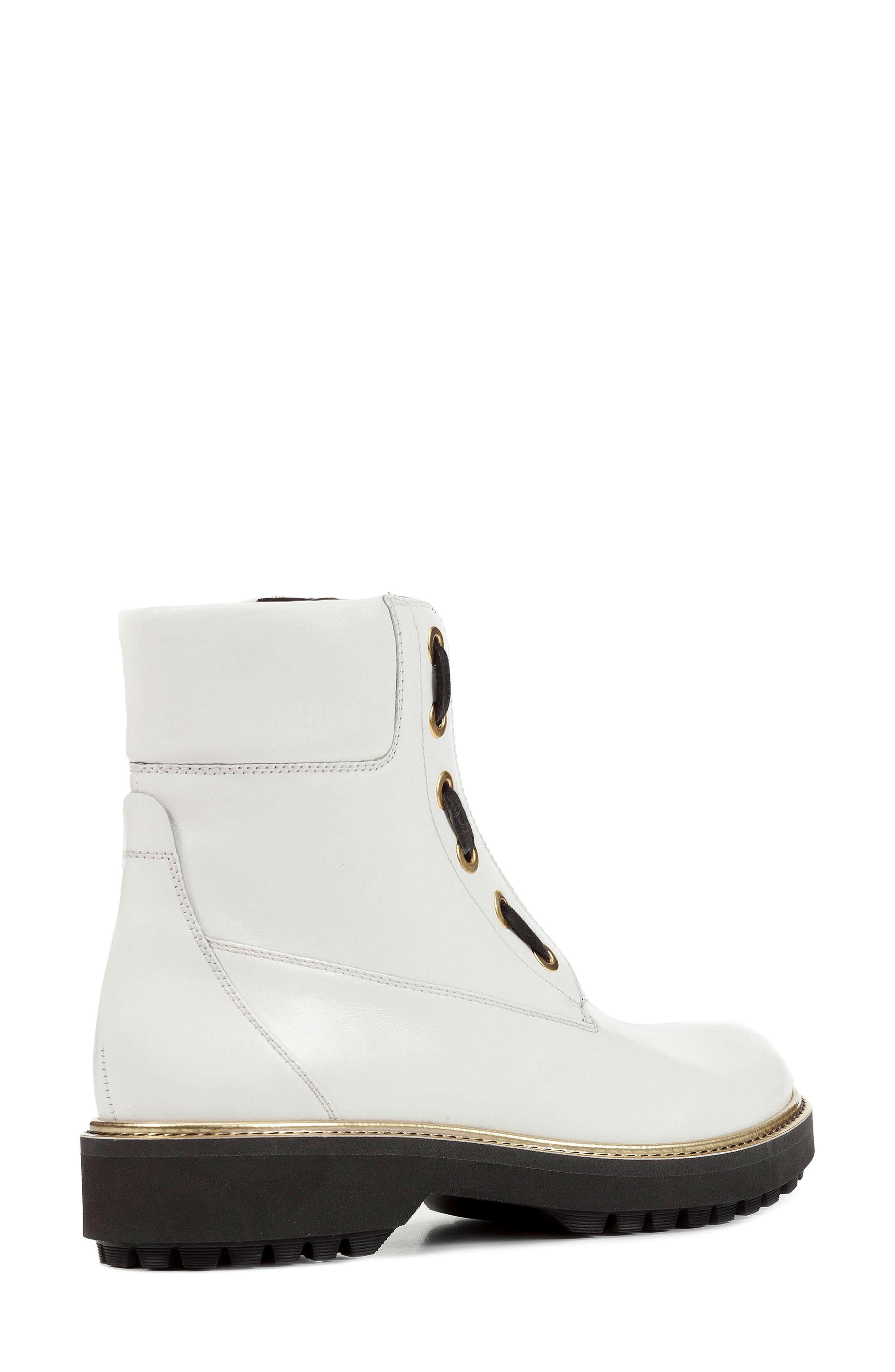 GEOX,                             Asheely Bootie,                             Alternate thumbnail 7, color,                             WHITE LEATHER