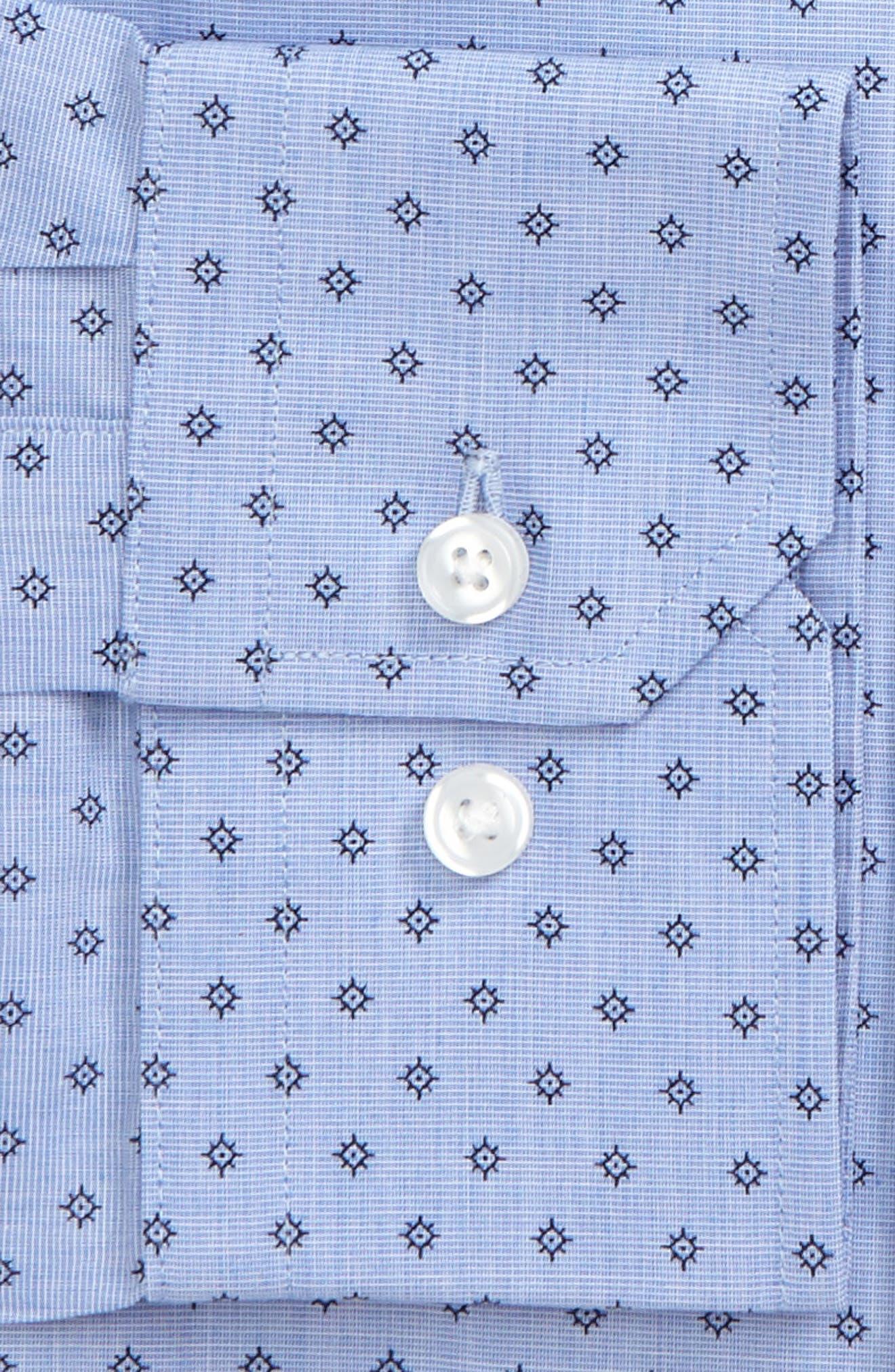 Trim Fit Floral Print Dress Shirt,                             Alternate thumbnail 2, color,