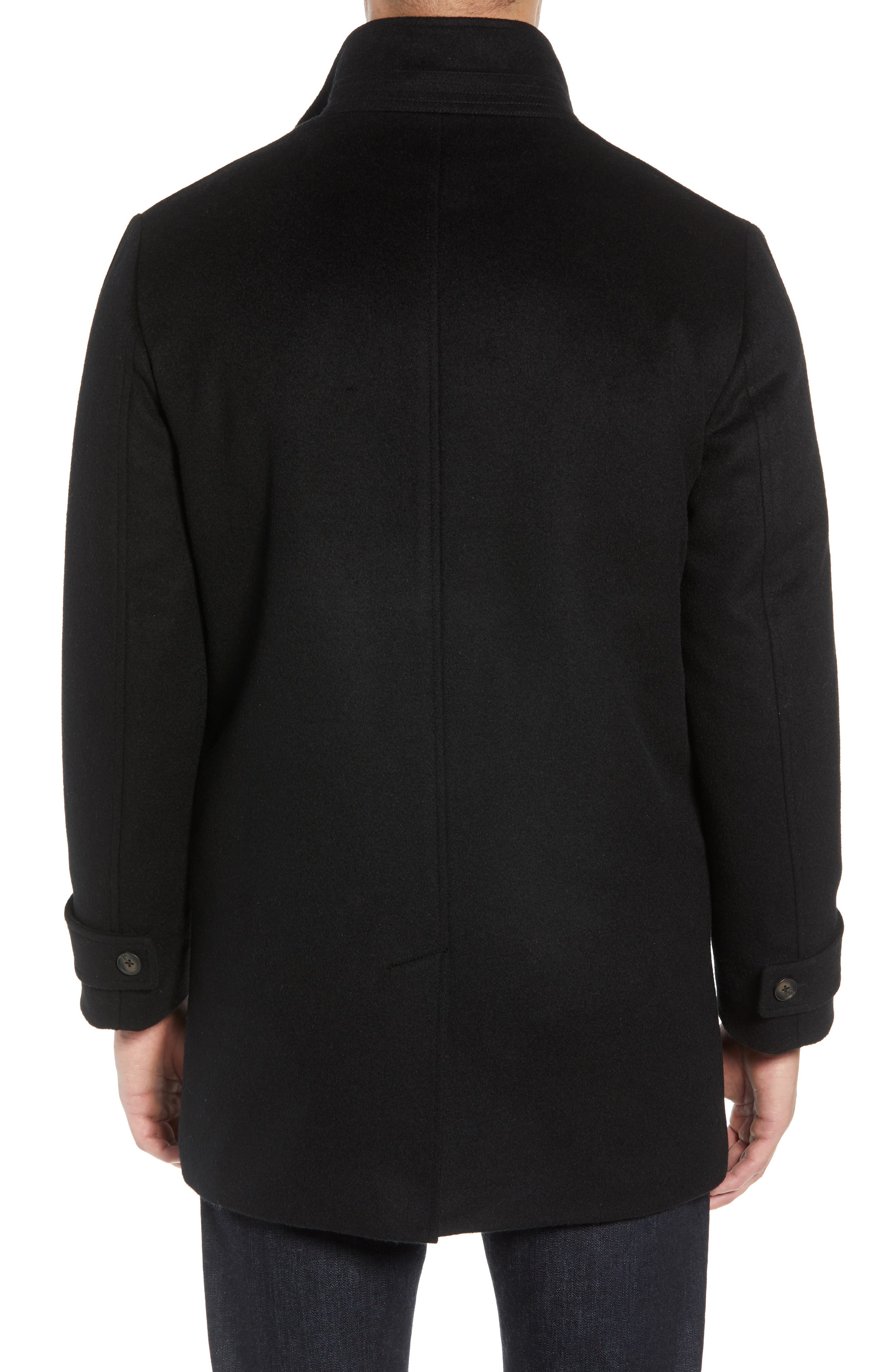 Hudson Wool Car Coat,                             Alternate thumbnail 2, color,                             BLACK