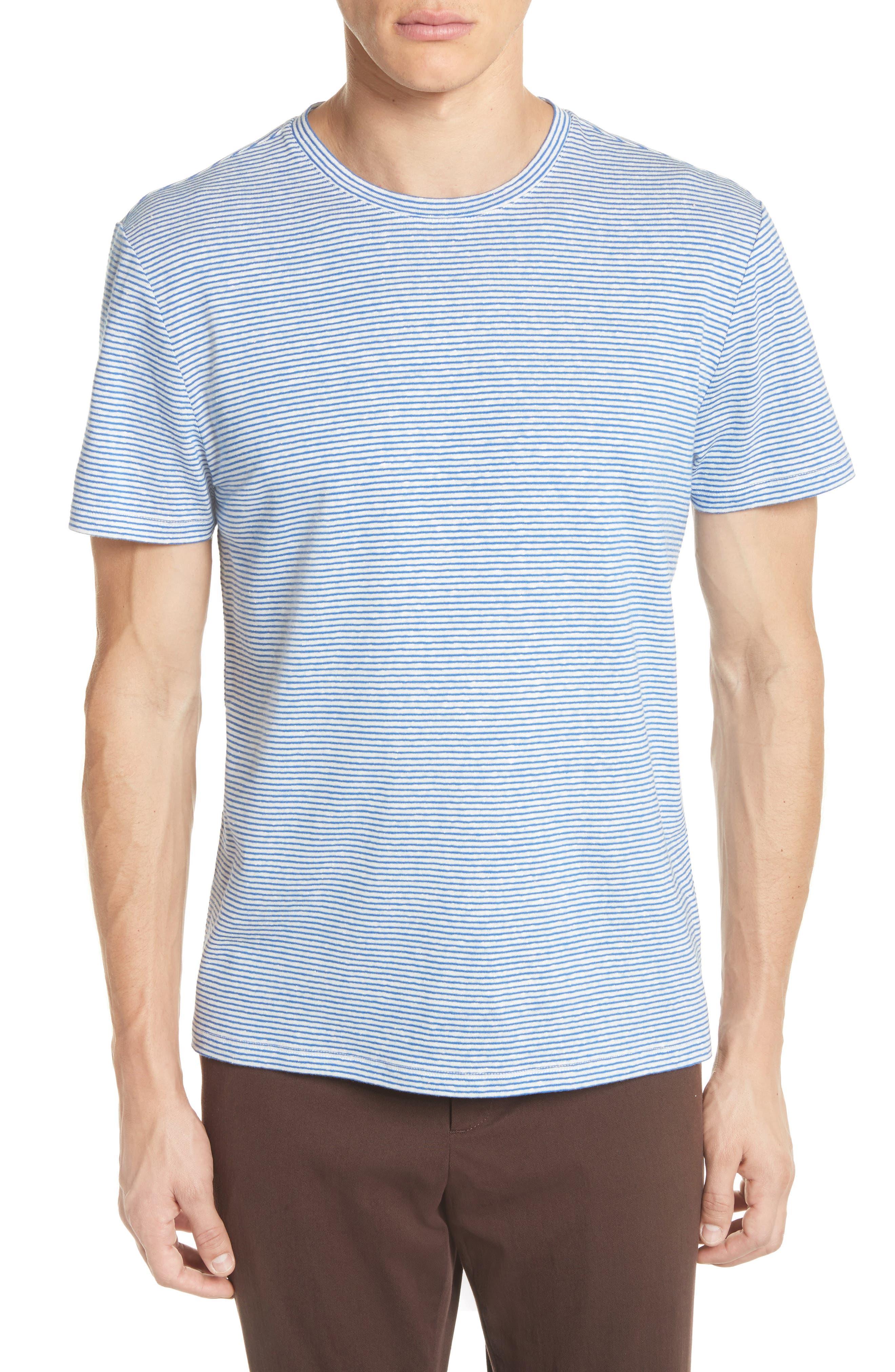 Jimmy Stripe T-Shirt,                             Main thumbnail 1, color,                             BLUE