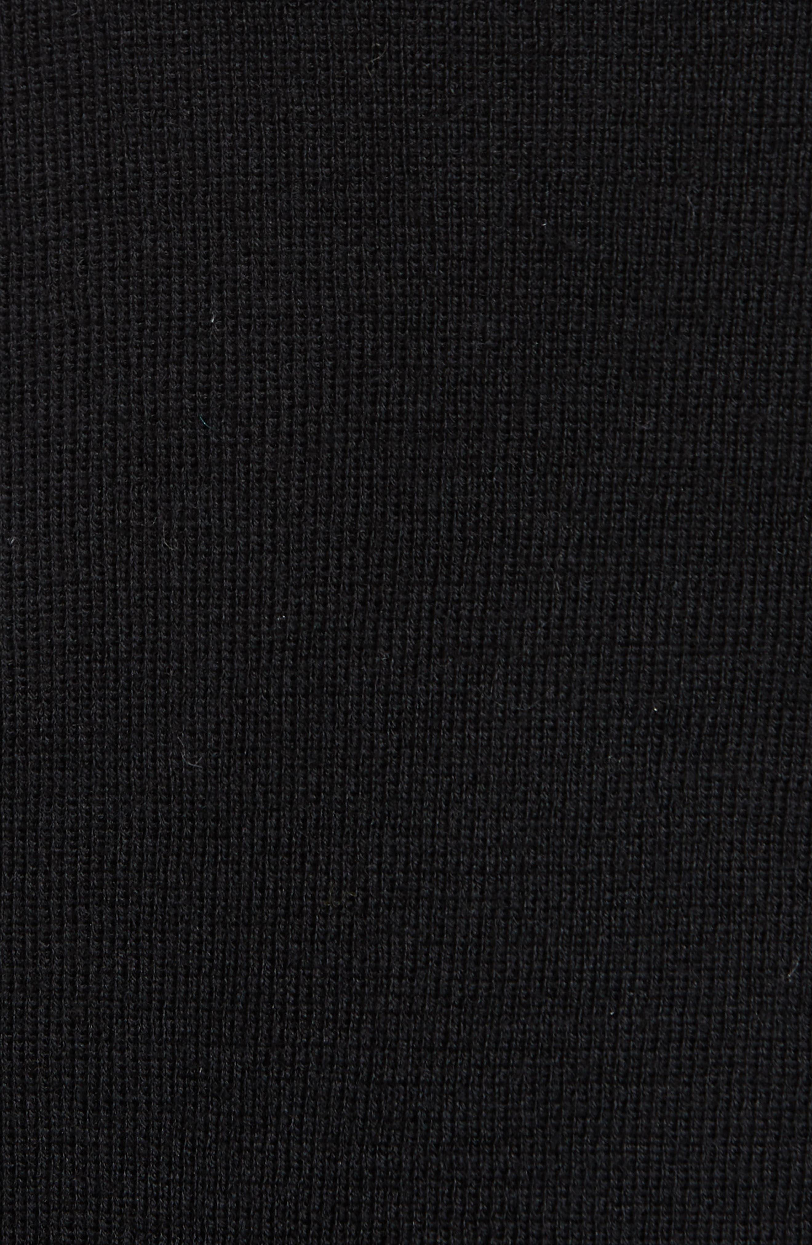 Simple Cardigan,                             Alternate thumbnail 5, color,                             BLACK