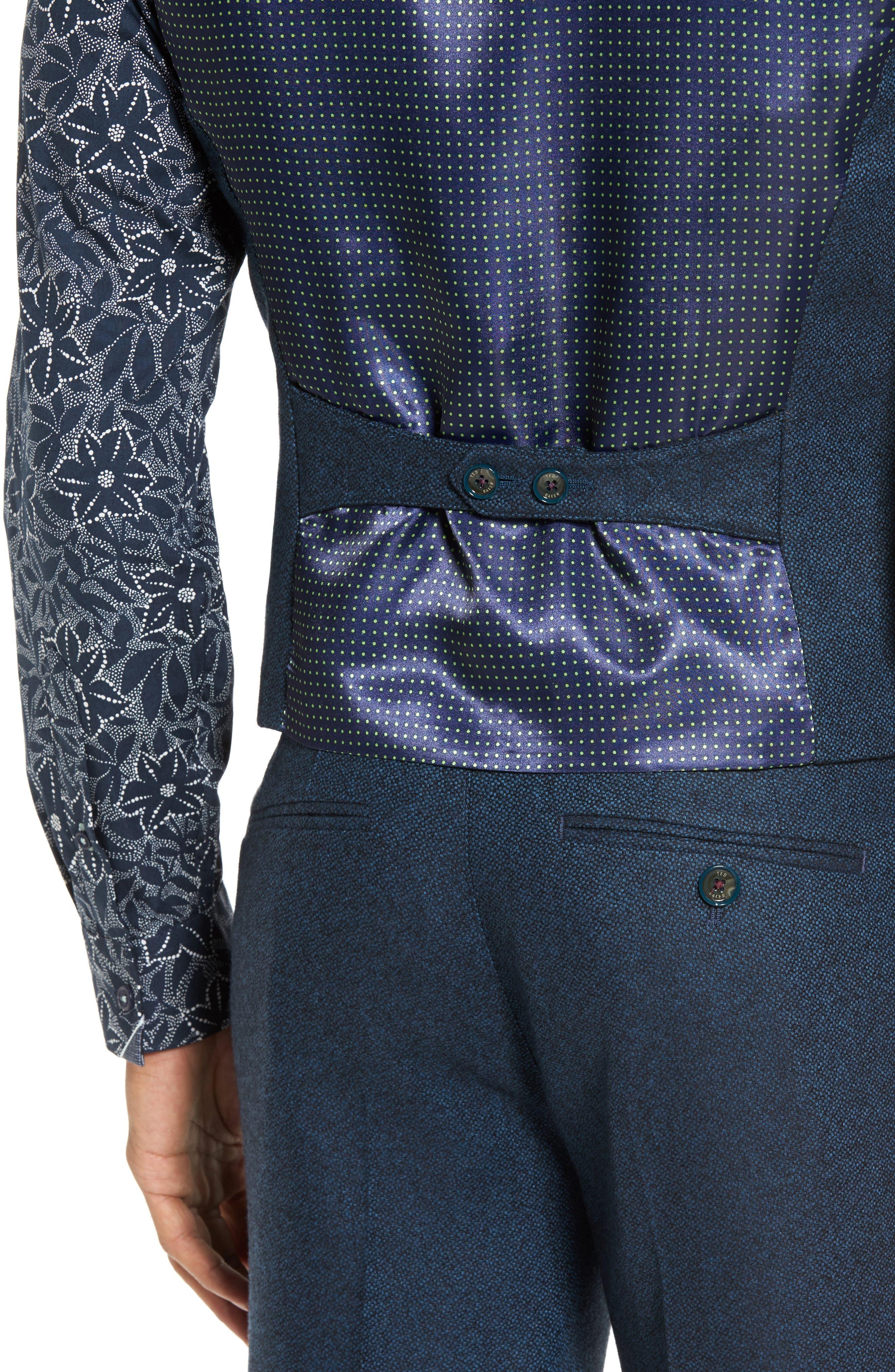 Modern Slim Fit Waistcoat,                             Alternate thumbnail 4, color,                             460
