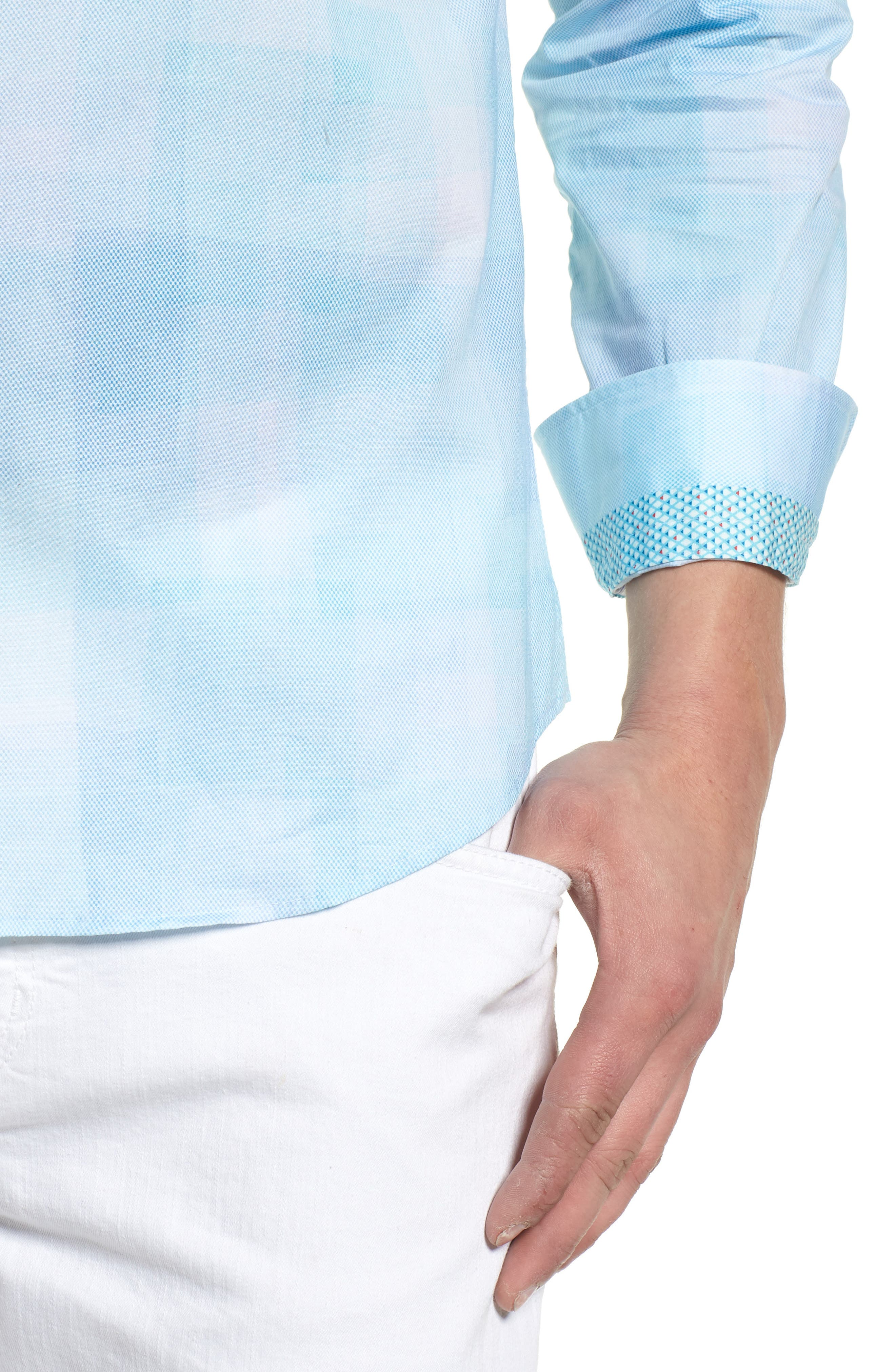 Plaid Sport Shirt,                             Alternate thumbnail 4, color,                             330