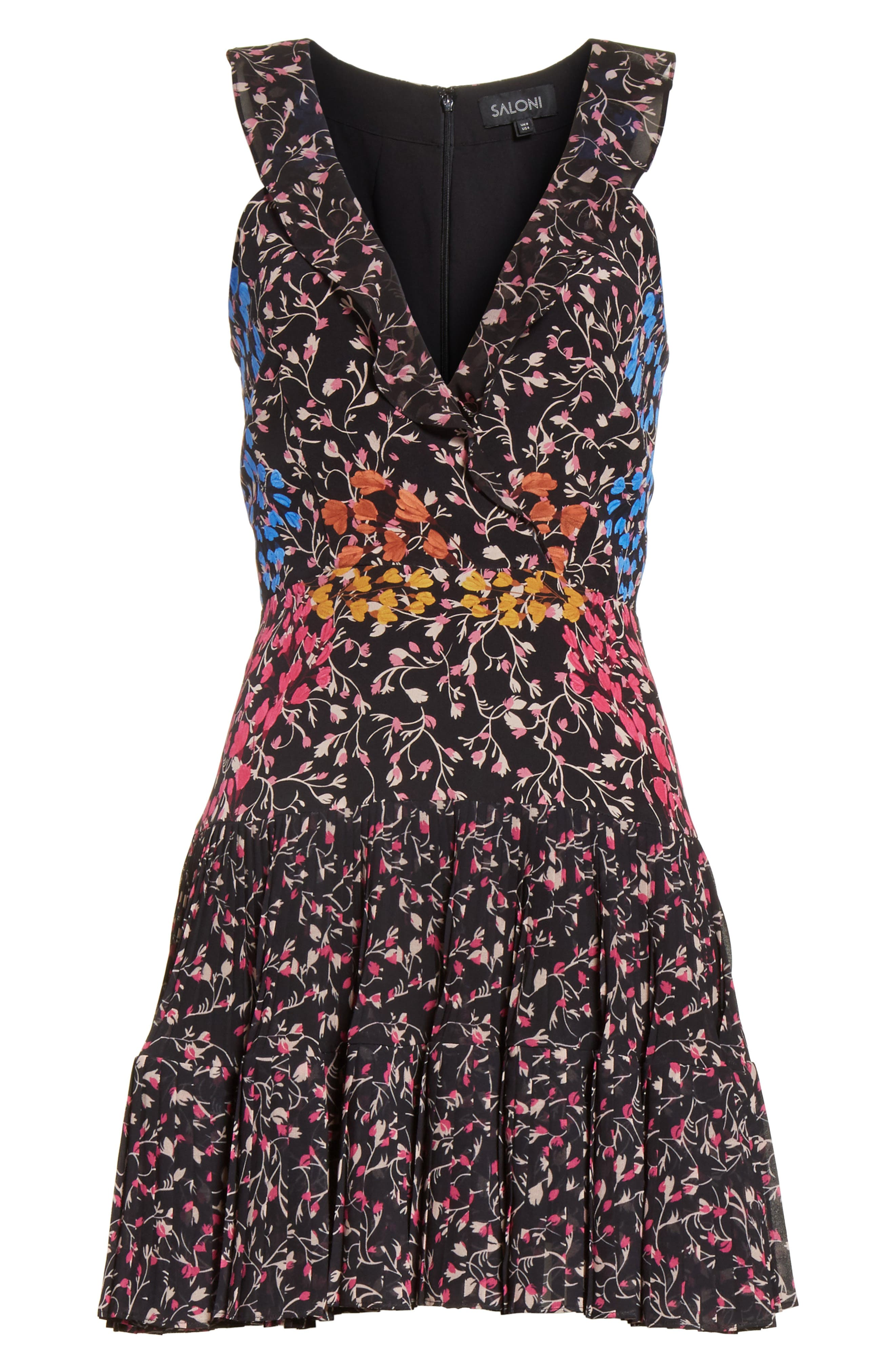 Amy Fit & Flare Dress,                             Alternate thumbnail 6, color,                             005