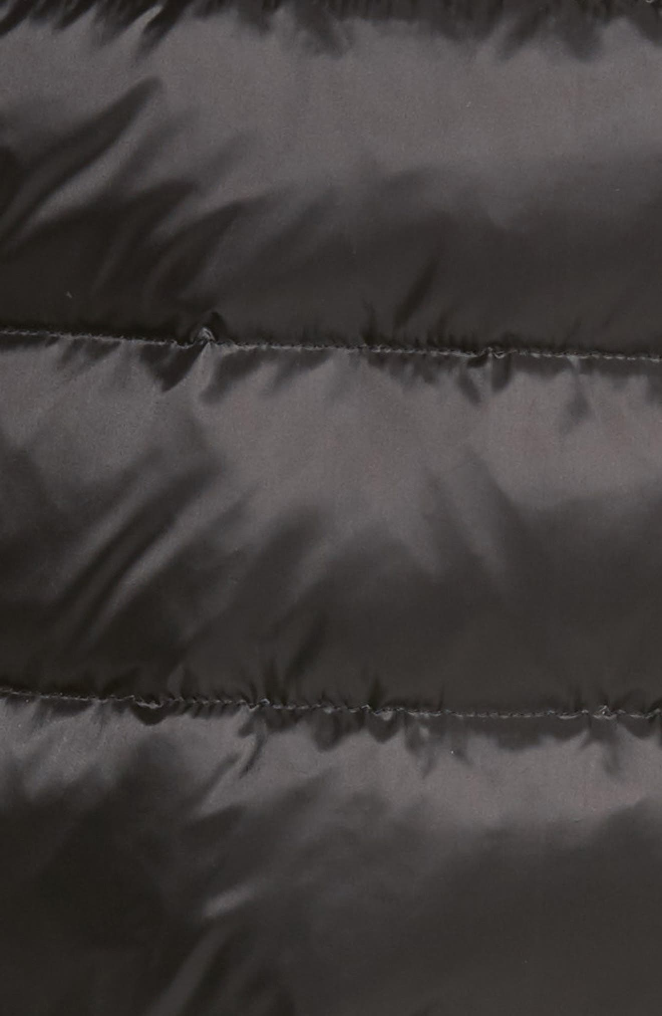 Genuine Shearling Trim Down Vest,                             Alternate thumbnail 6, color,                             001