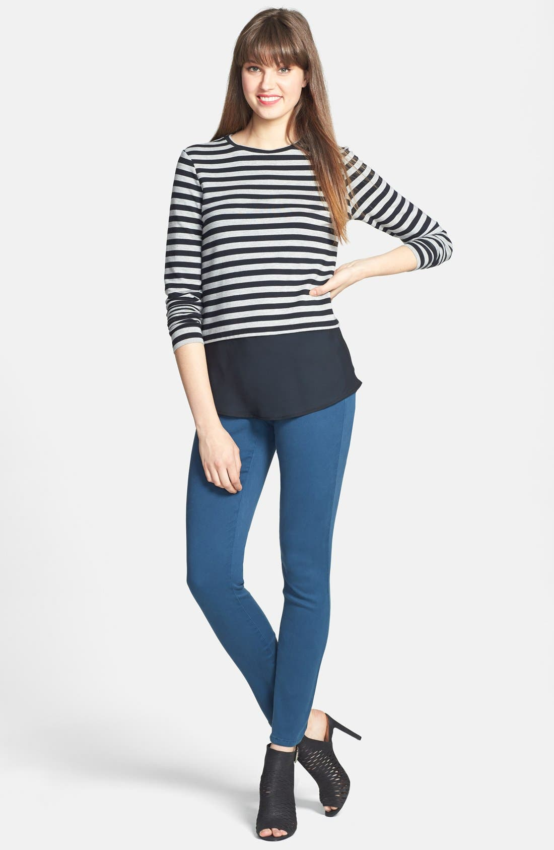 Alina Colored Stretch Skinny Jeans,                             Alternate thumbnail 137, color,