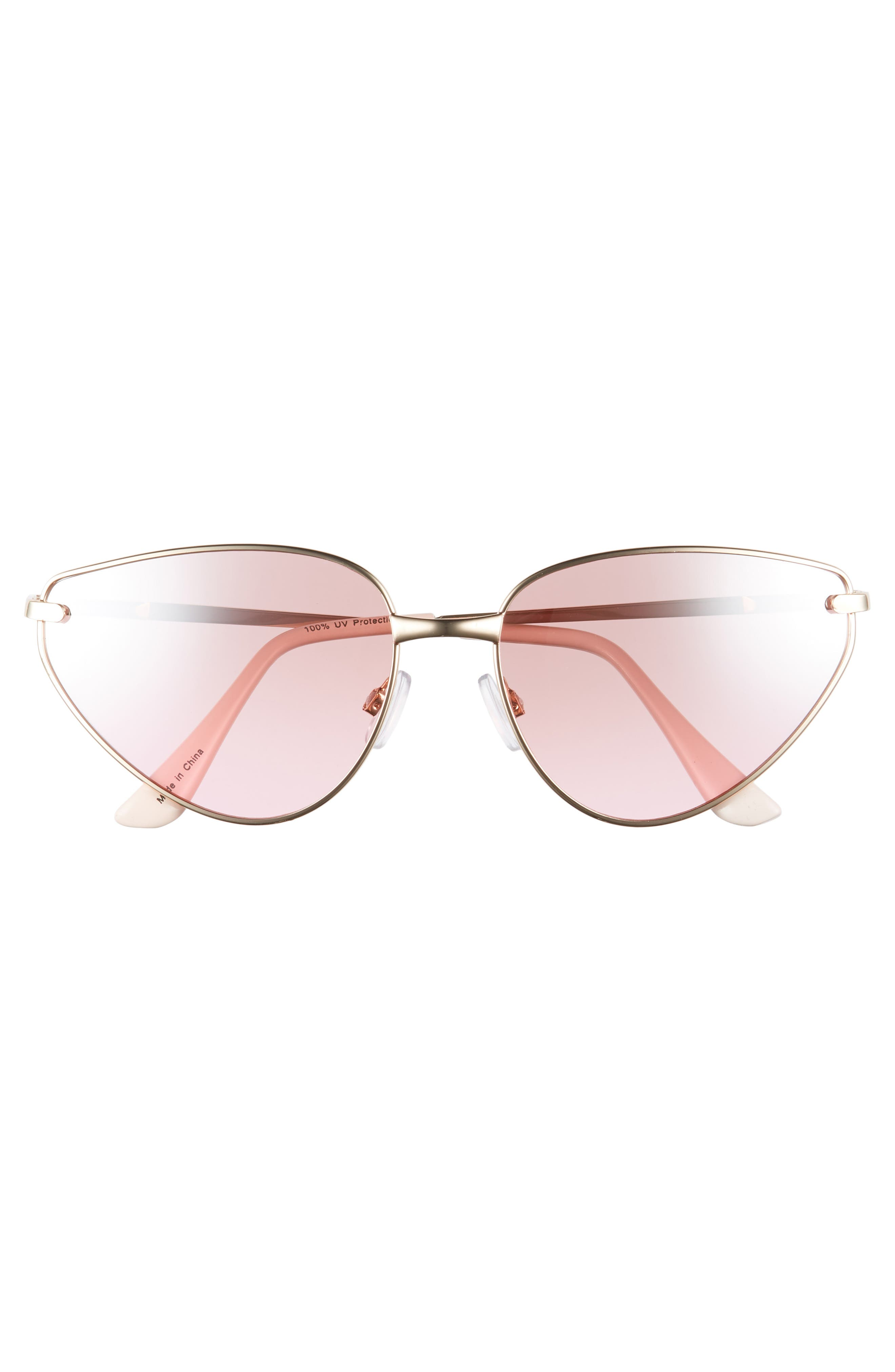 60mm Exaggerated Cat Eye Sunglasses,                             Alternate thumbnail 3, color,                             710