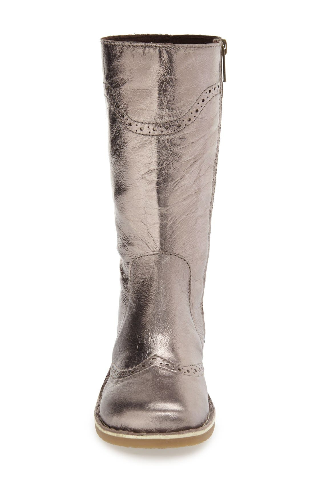 Tall Leather Boot,                             Alternate thumbnail 8, color,