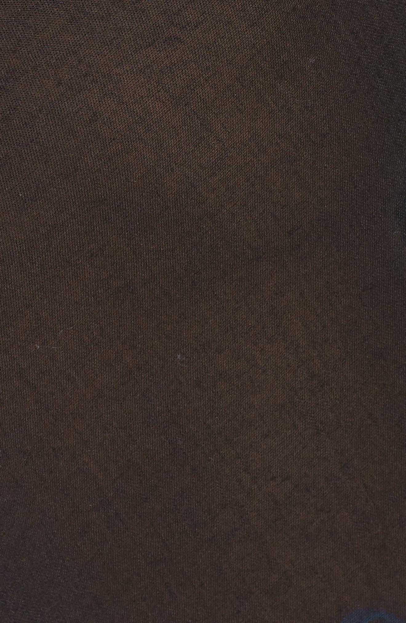 Lace Trim Ruana,                             Alternate thumbnail 5, color,                             BLACK