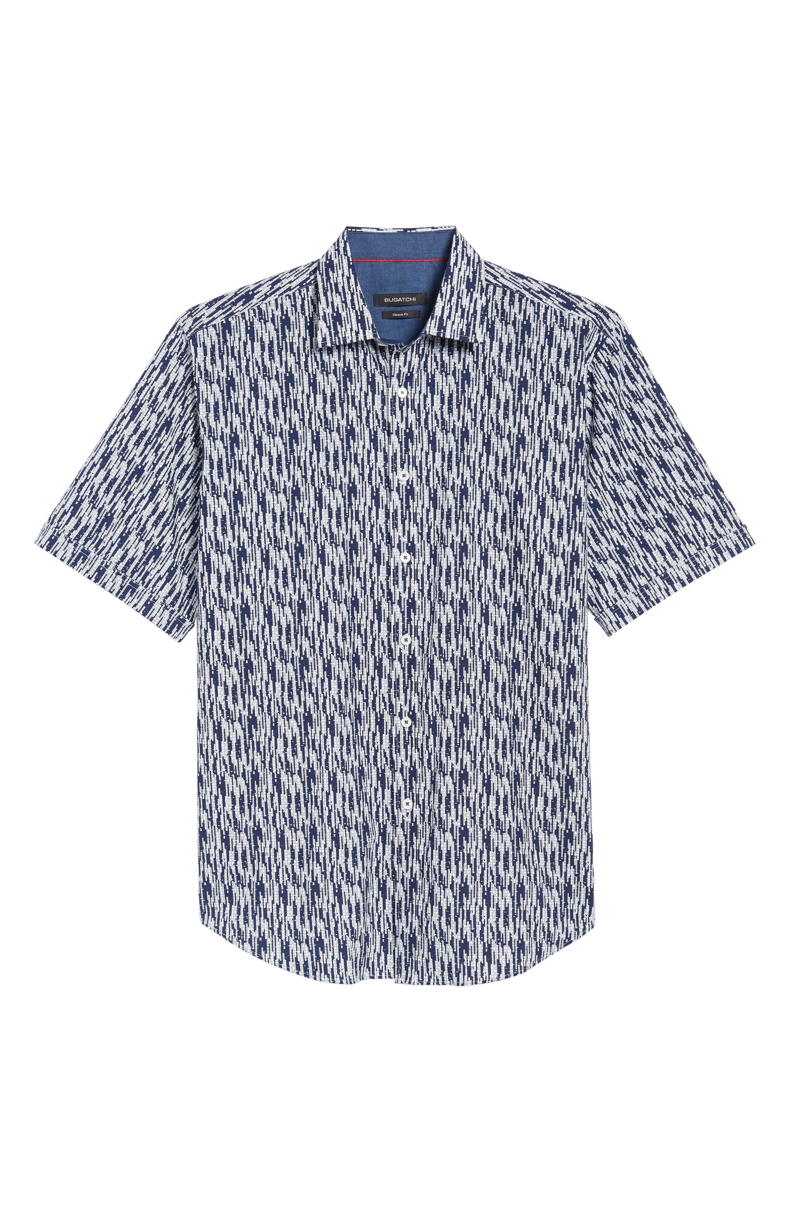 Classic Fit Dots Circles & Spaces Sport Shirt,                             Alternate thumbnail 6, color,                             411