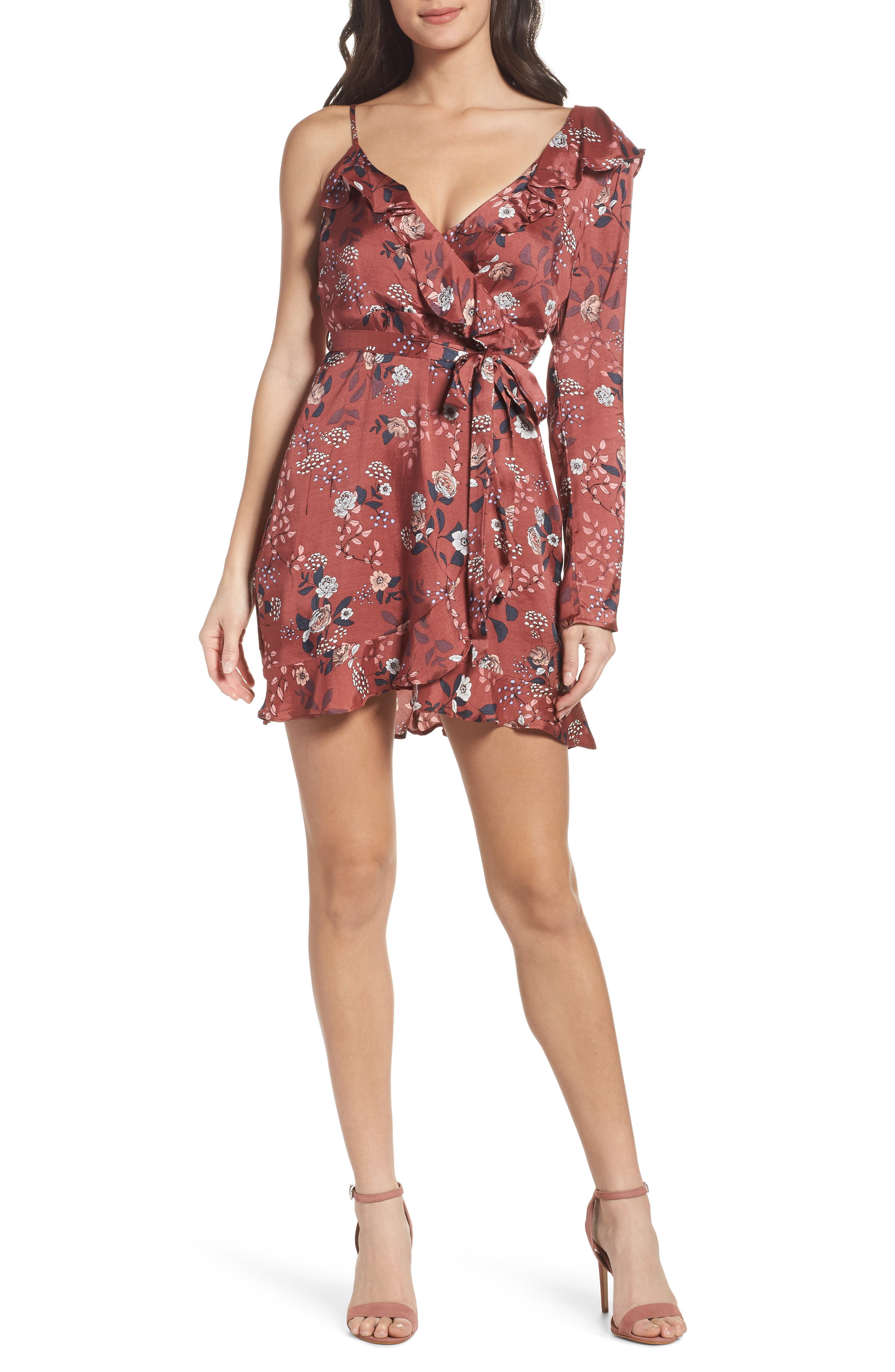 Milly Wrap Dress,                             Main thumbnail 1, color,                             223
