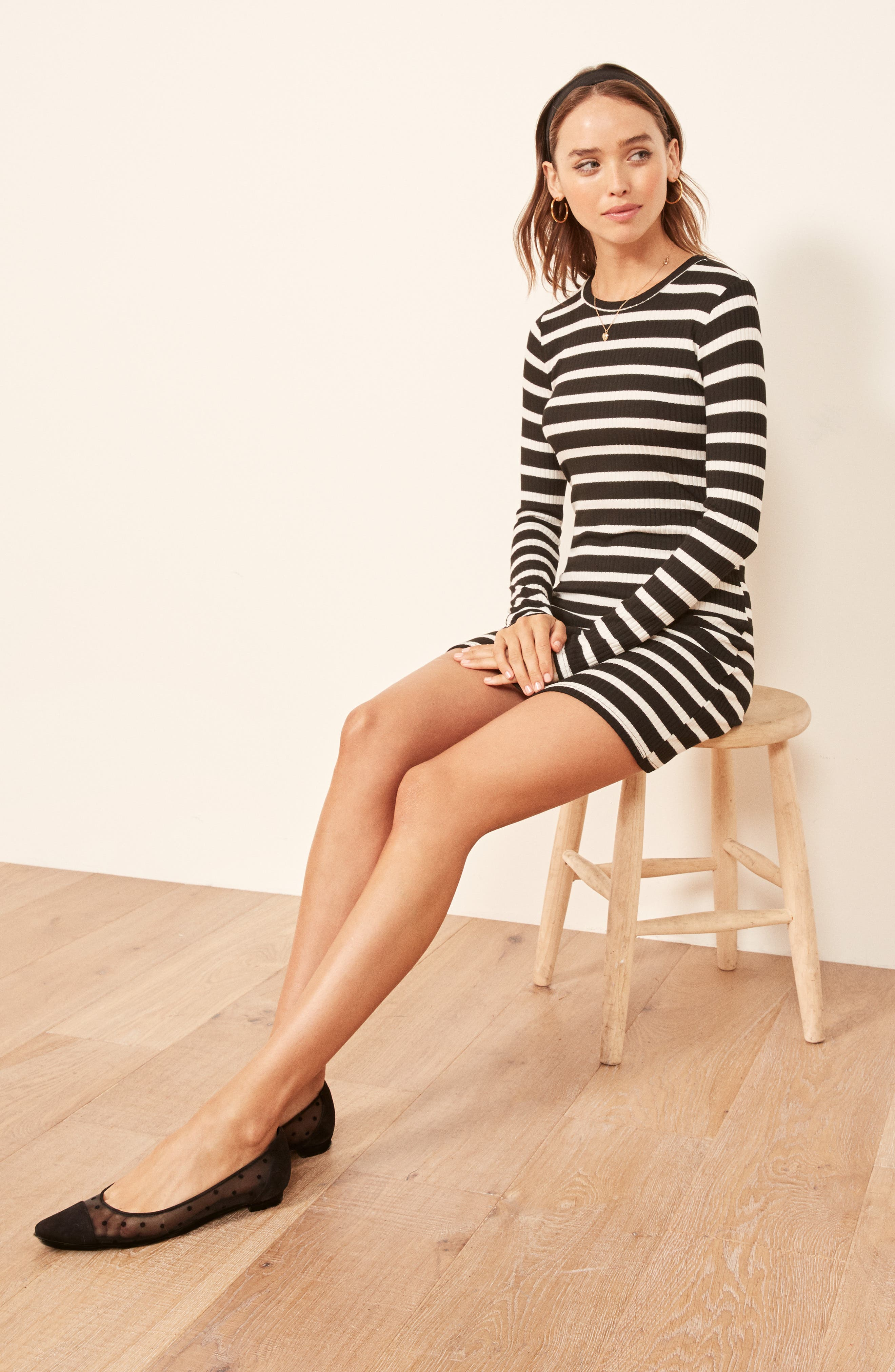 Jeanne Rib Knit Dress,                             Alternate thumbnail 2, color,                             HENRI STRIPE