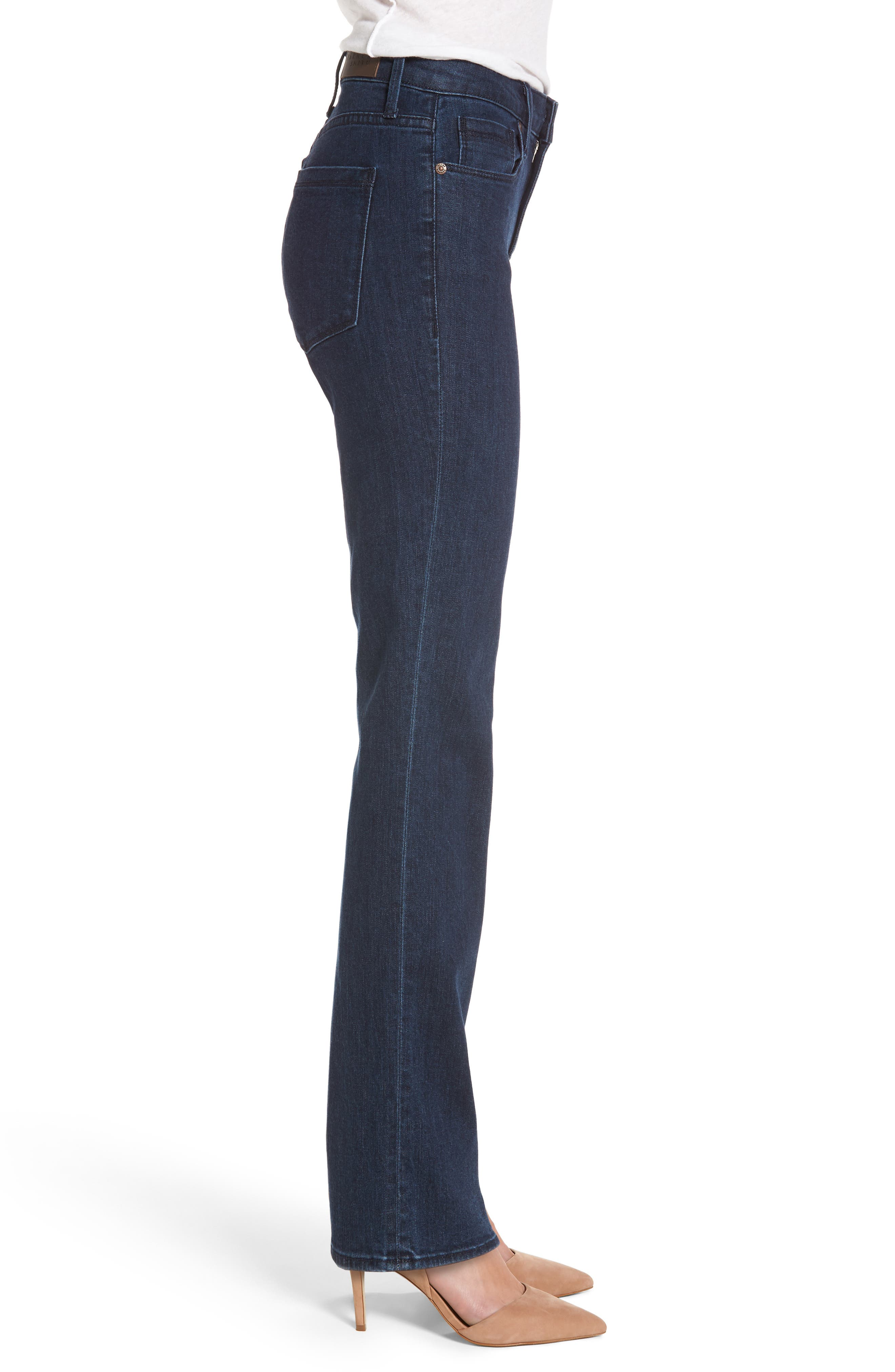 Bombshell Runaround Straight Leg Jeans,                             Alternate thumbnail 3, color,                             405