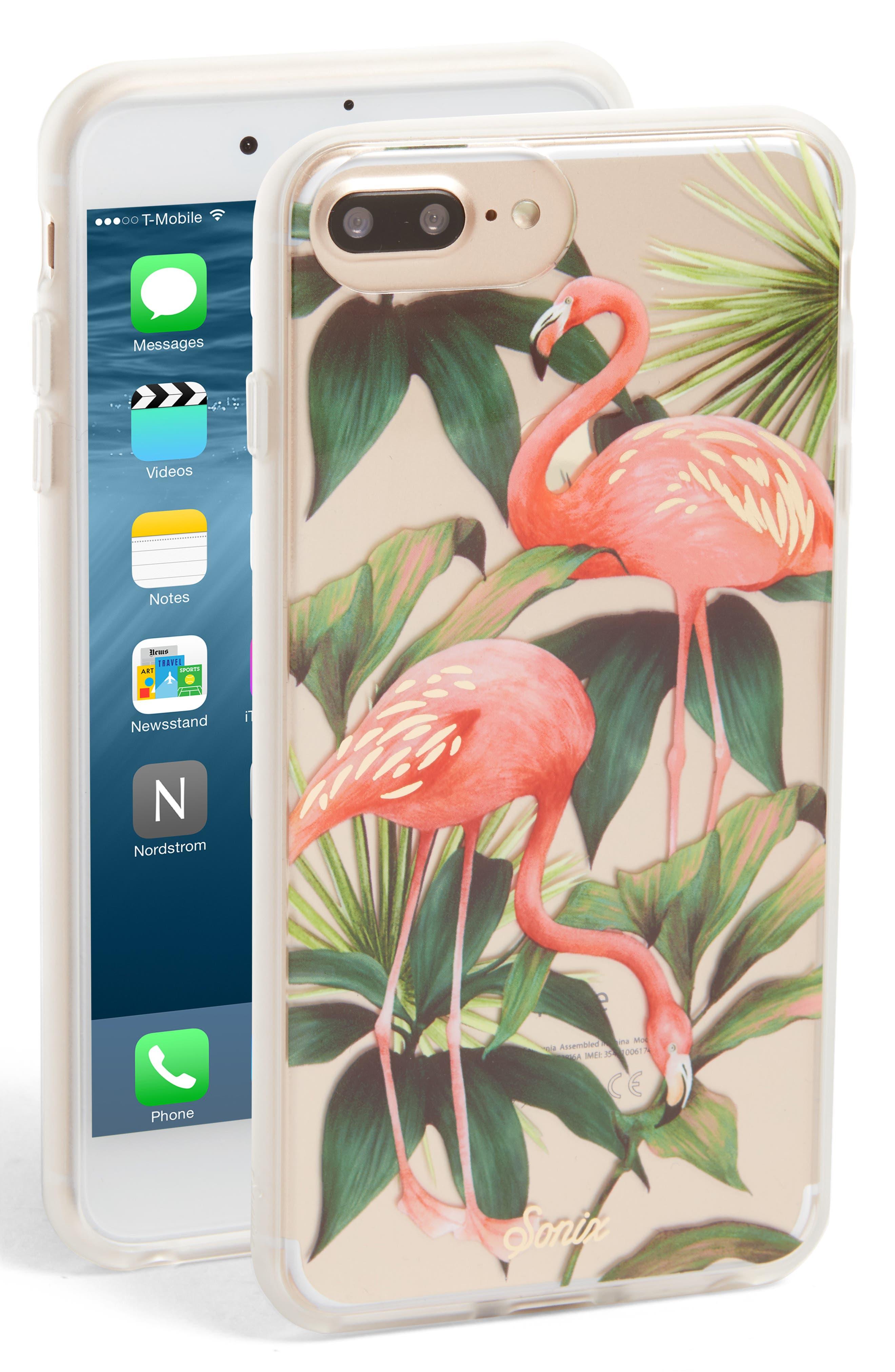 SONIX Flamingo Garden iPhone 6/6s/7/8 & 6/6s/7/8 Plus Case, Main, color, 650