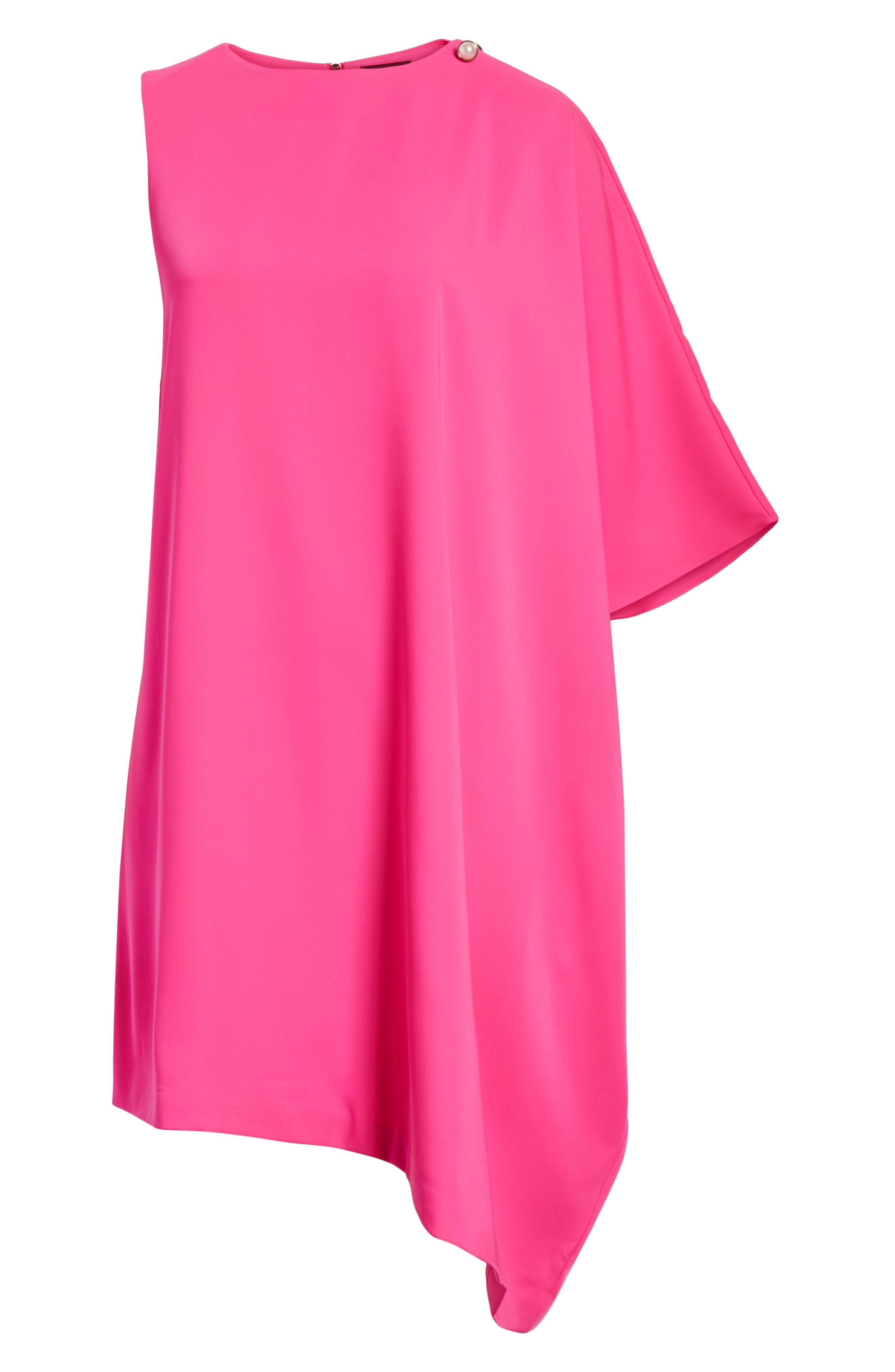 Oversize Drape Front Dress,                             Alternate thumbnail 12, color,
