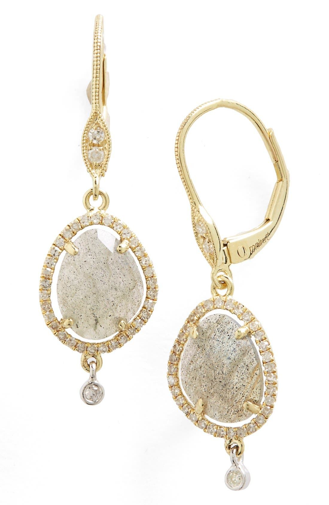 Diamond & Semiprecious Stone Drop Earrings,                         Main,                         color, 030