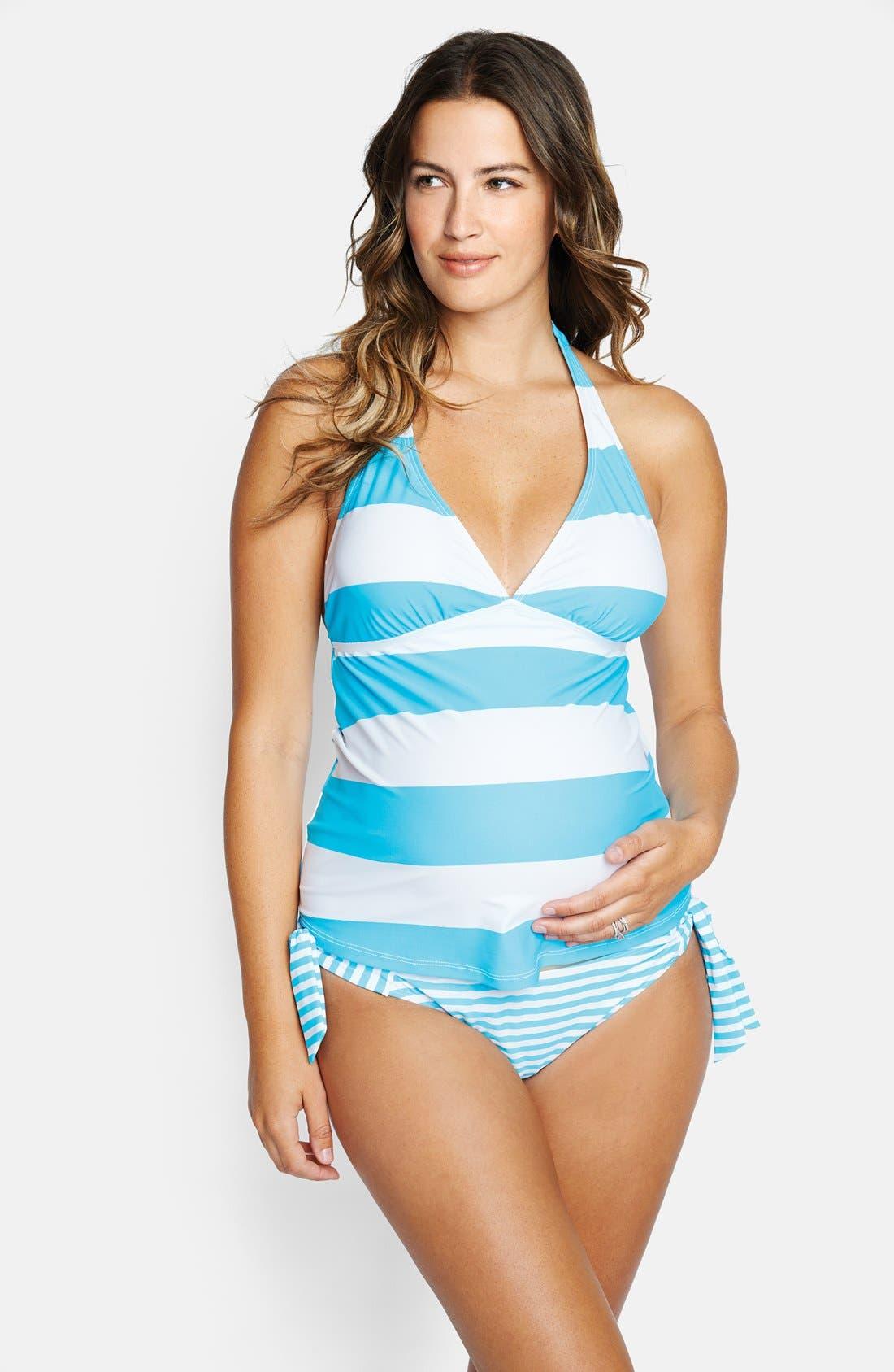 'Josie' Maternity Tankini Swimsuit,                             Main thumbnail 8, color,