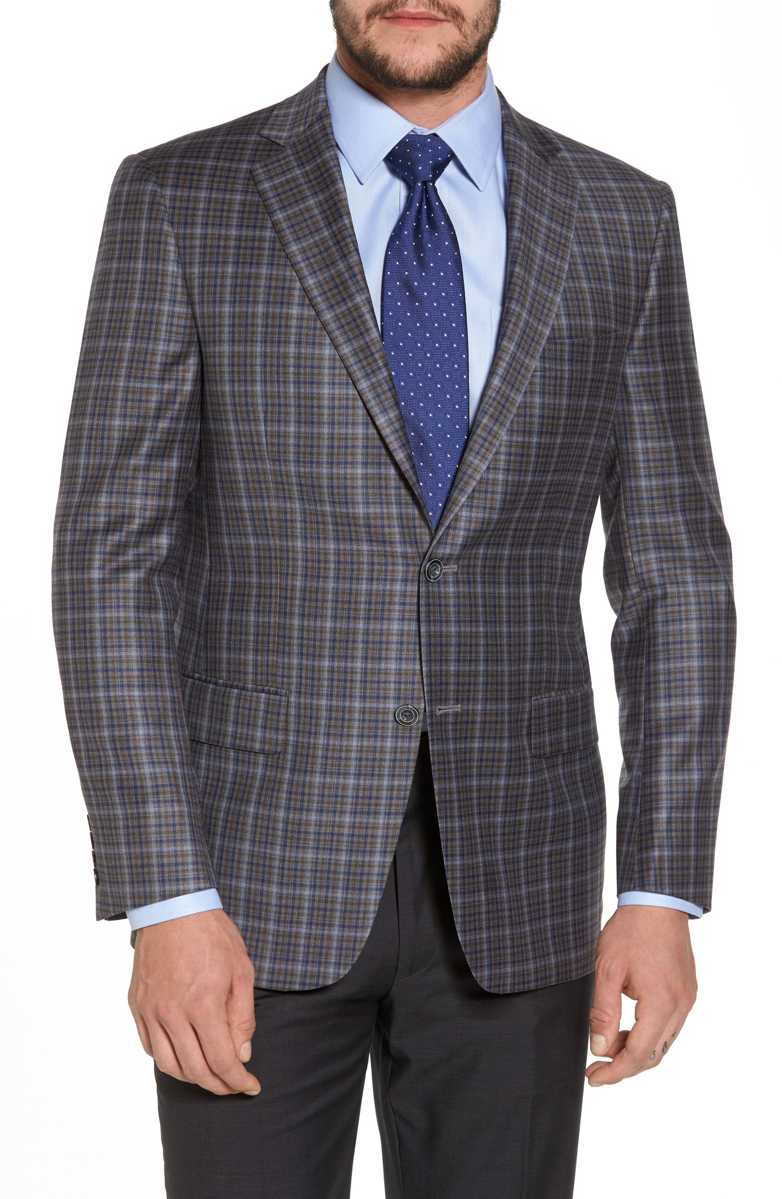 Classic Fit Plaid Wool Sport Coat,                             Main thumbnail 1, color,                             280