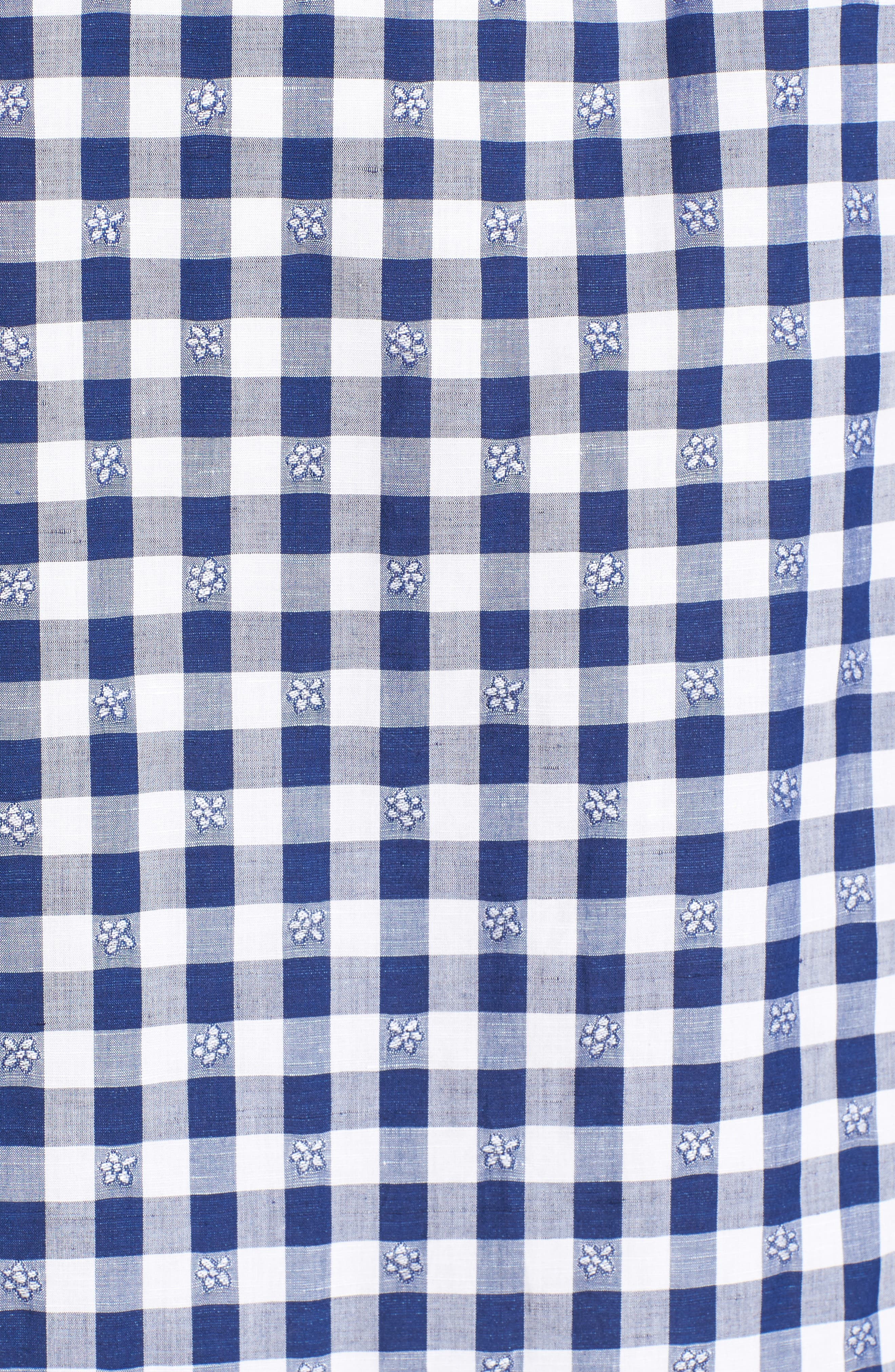 Wallace Floral Check Sport Shirt,                             Alternate thumbnail 5, color,                             423