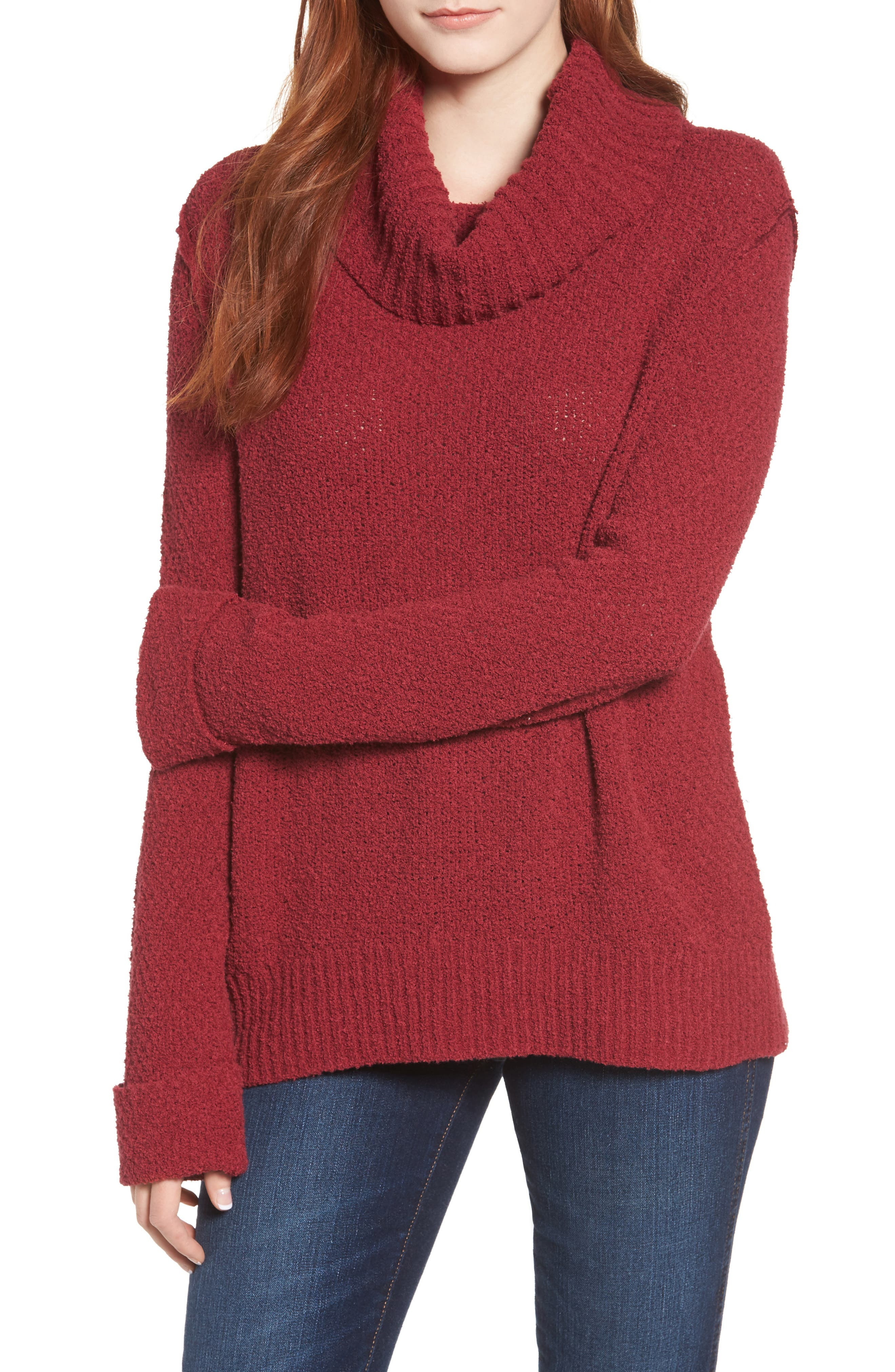 CASLON<SUP>®</SUP>,                             Cuff Sleeve Sweater,                             Main thumbnail 1, color,                             601