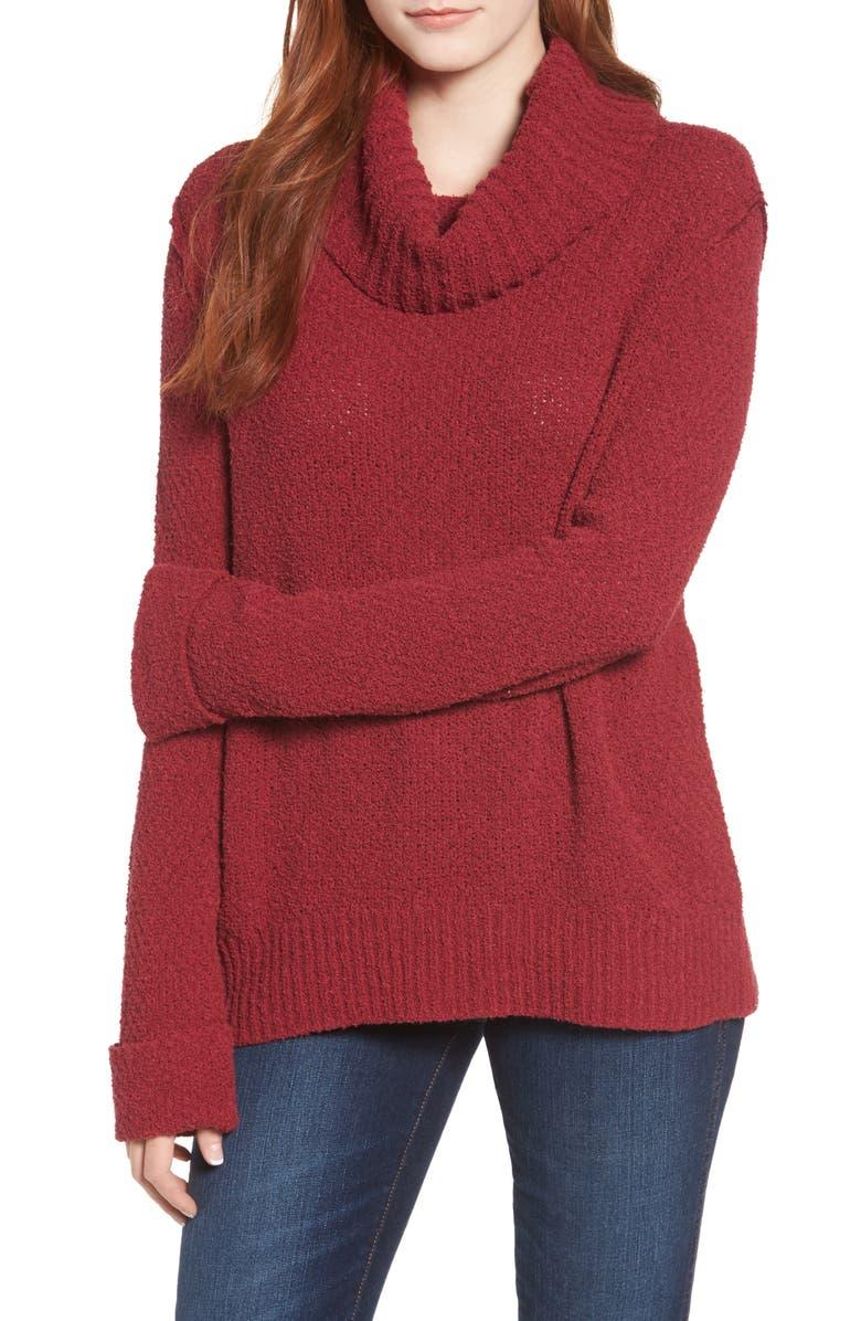 Caslon® Cuff Sleeve Sweater (Regular   Petite)  33605b8e6