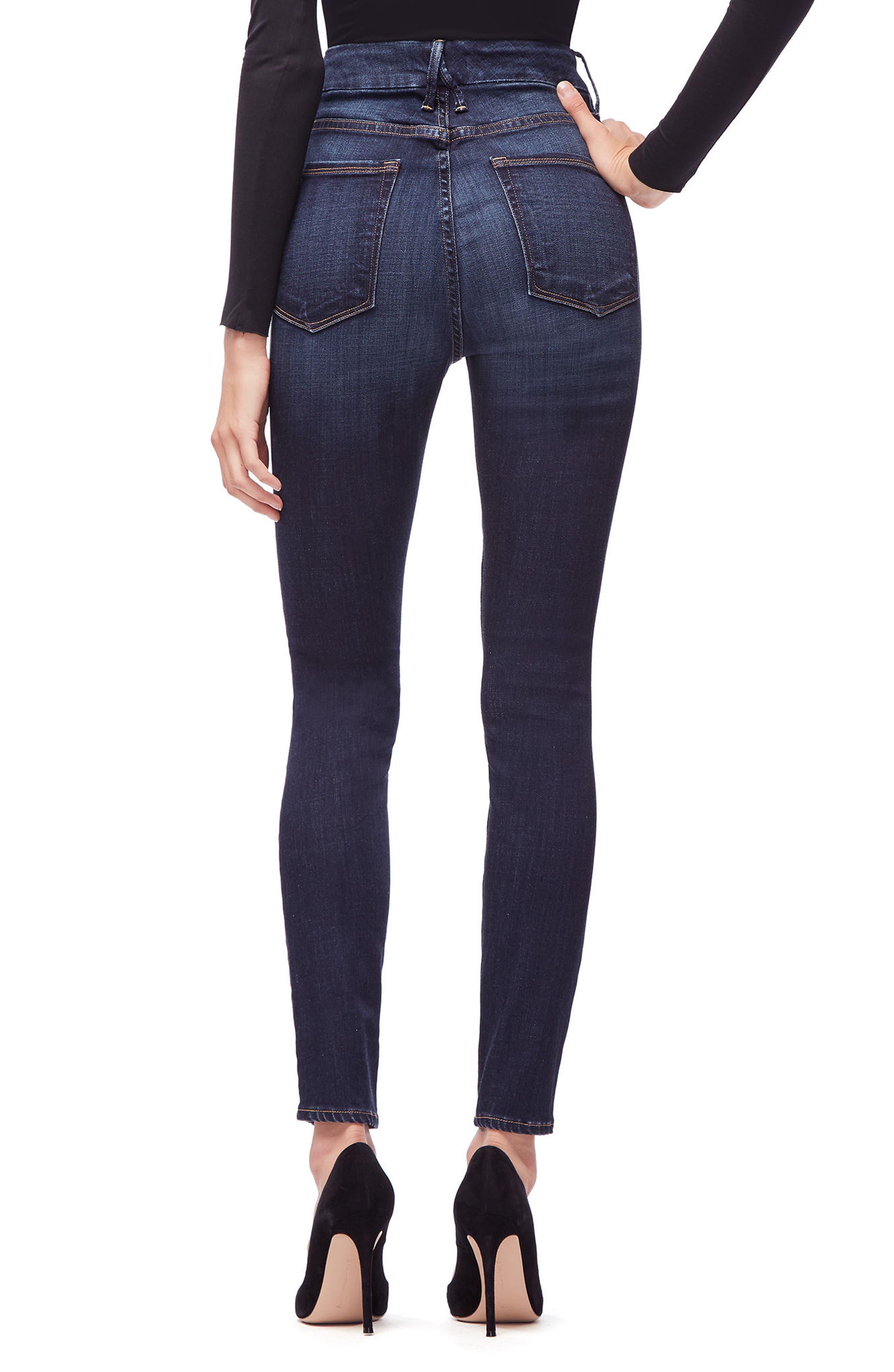 GOOD AMERICAN,                             Good Legs High Waist Skinny Jeans,                             Alternate thumbnail 2, color,                             401