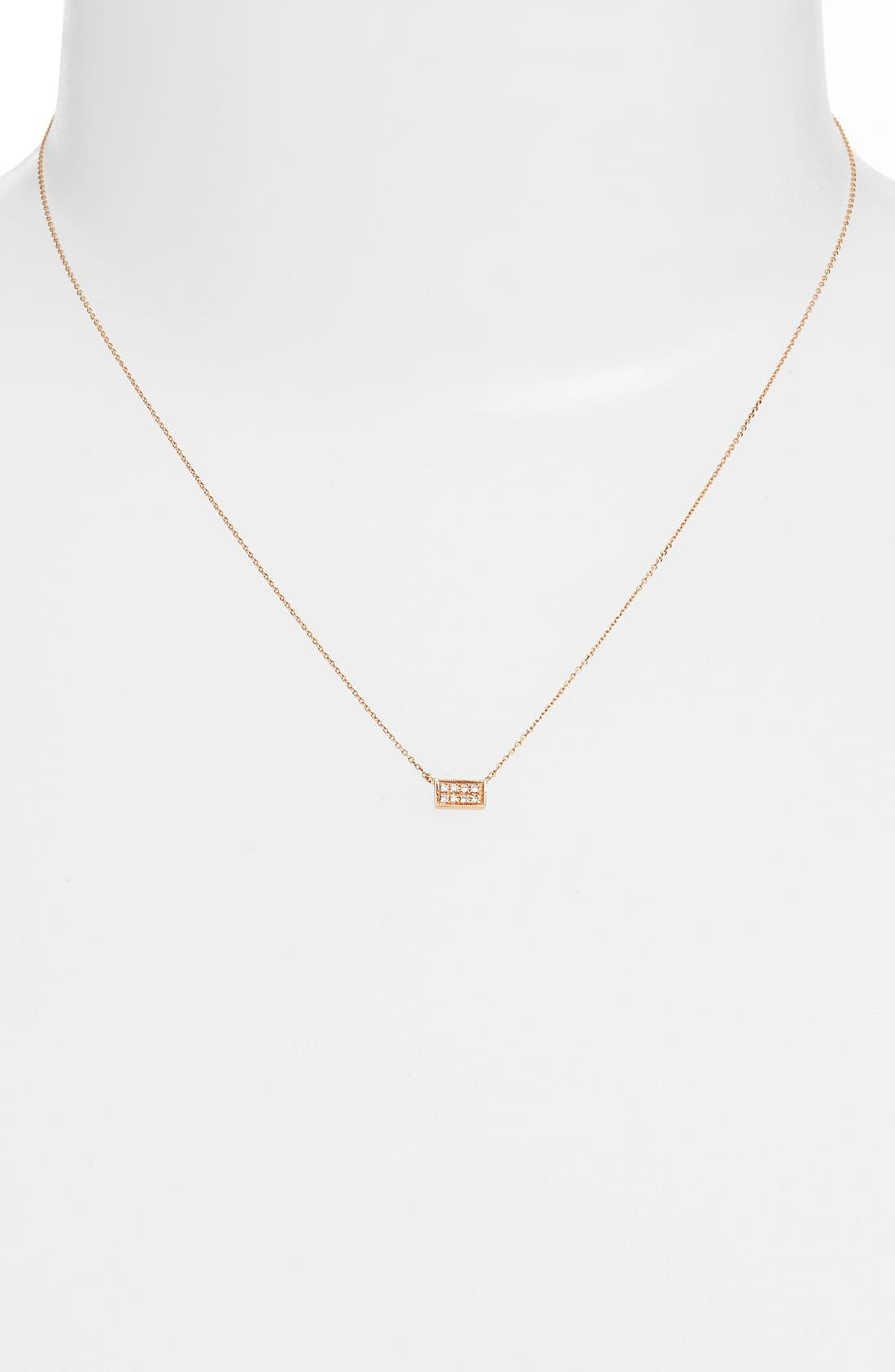 'Katie' Diamond Bar Pendant Necklace,                             Alternate thumbnail 6, color,                             712
