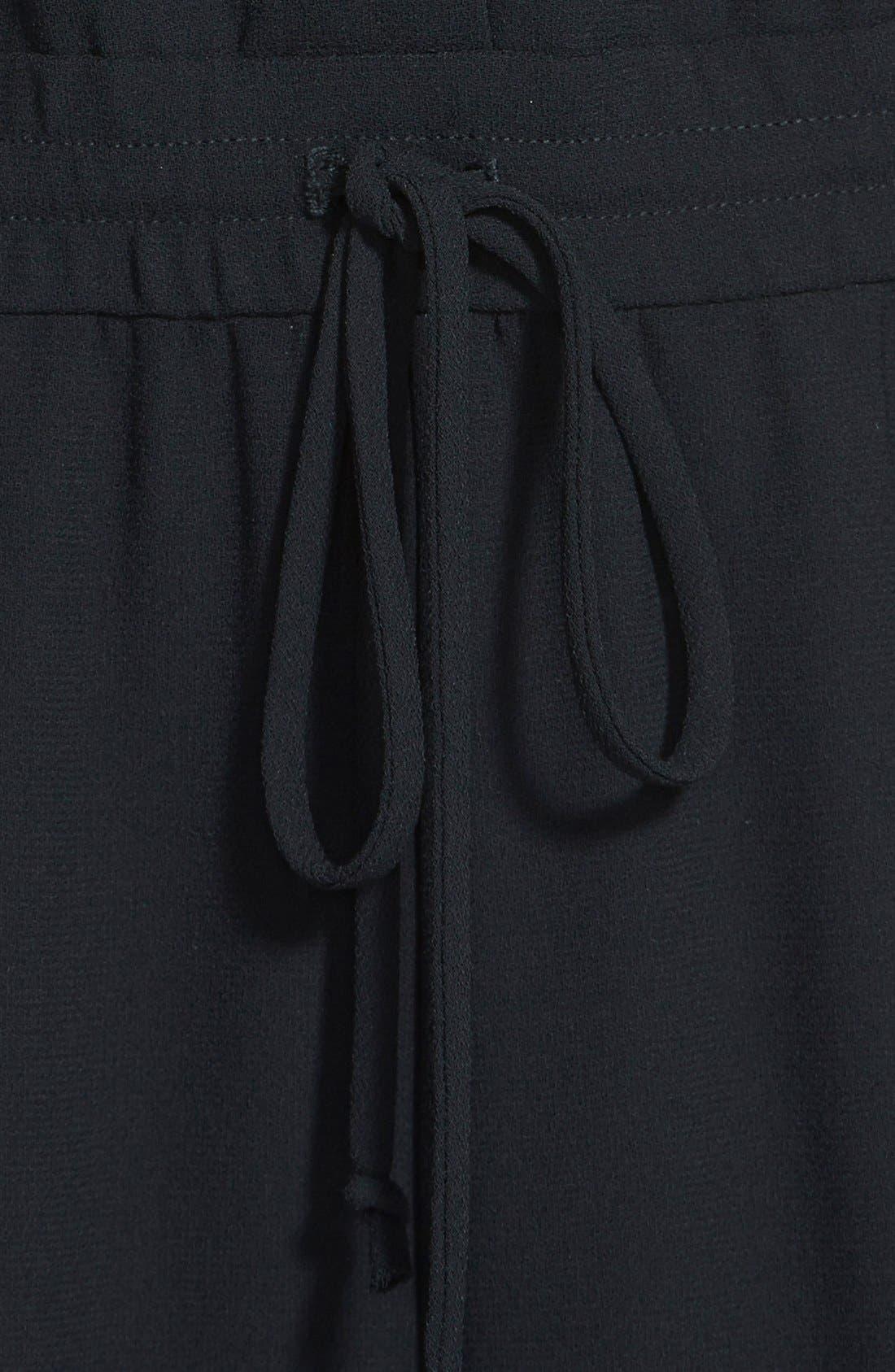 Cross Back Jumpsuit,                             Alternate thumbnail 3, color,                             001