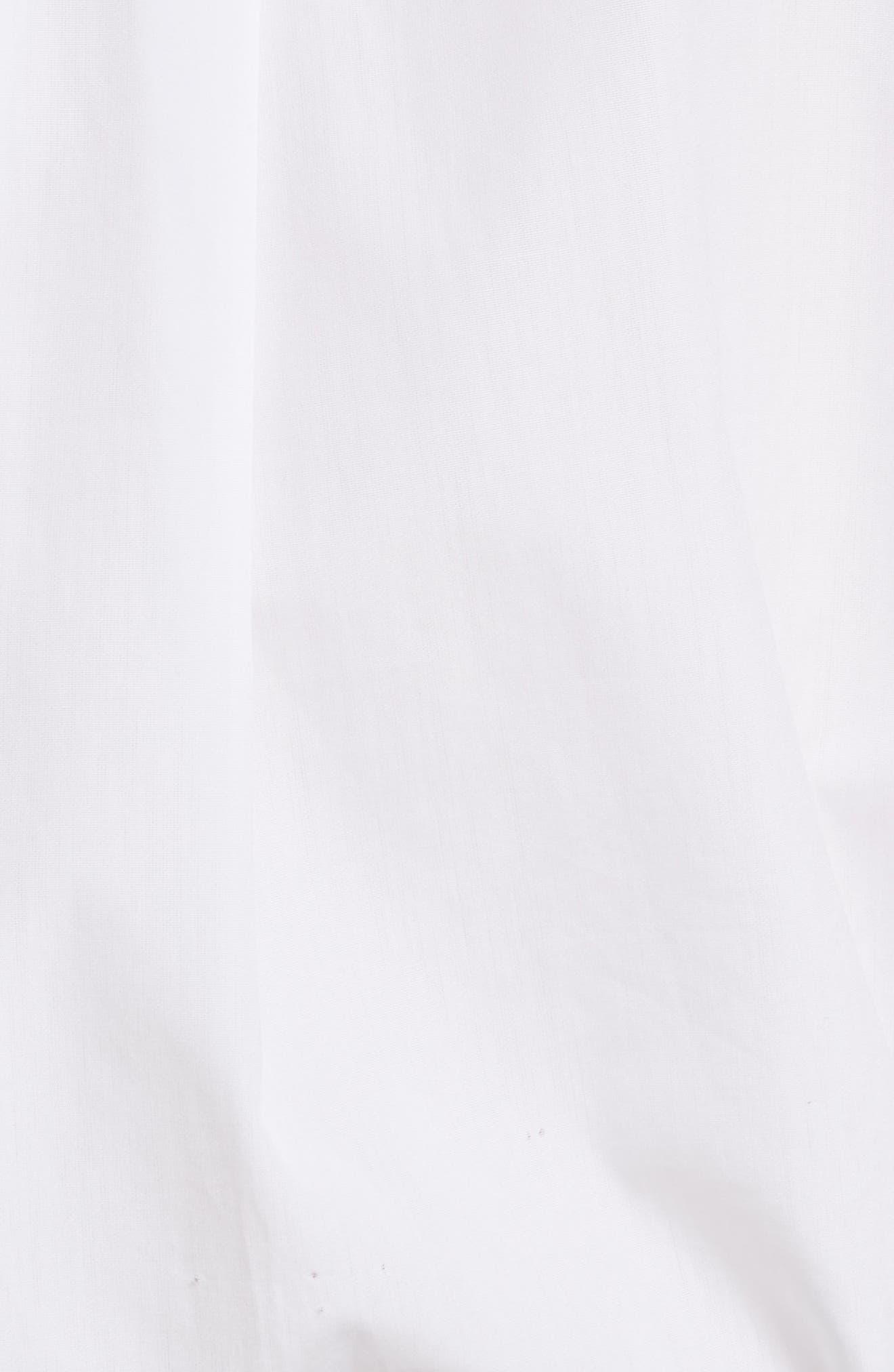 Diane von Furstenberg Pintuck Cotton Blouse,                             Alternate thumbnail 5, color,                             100