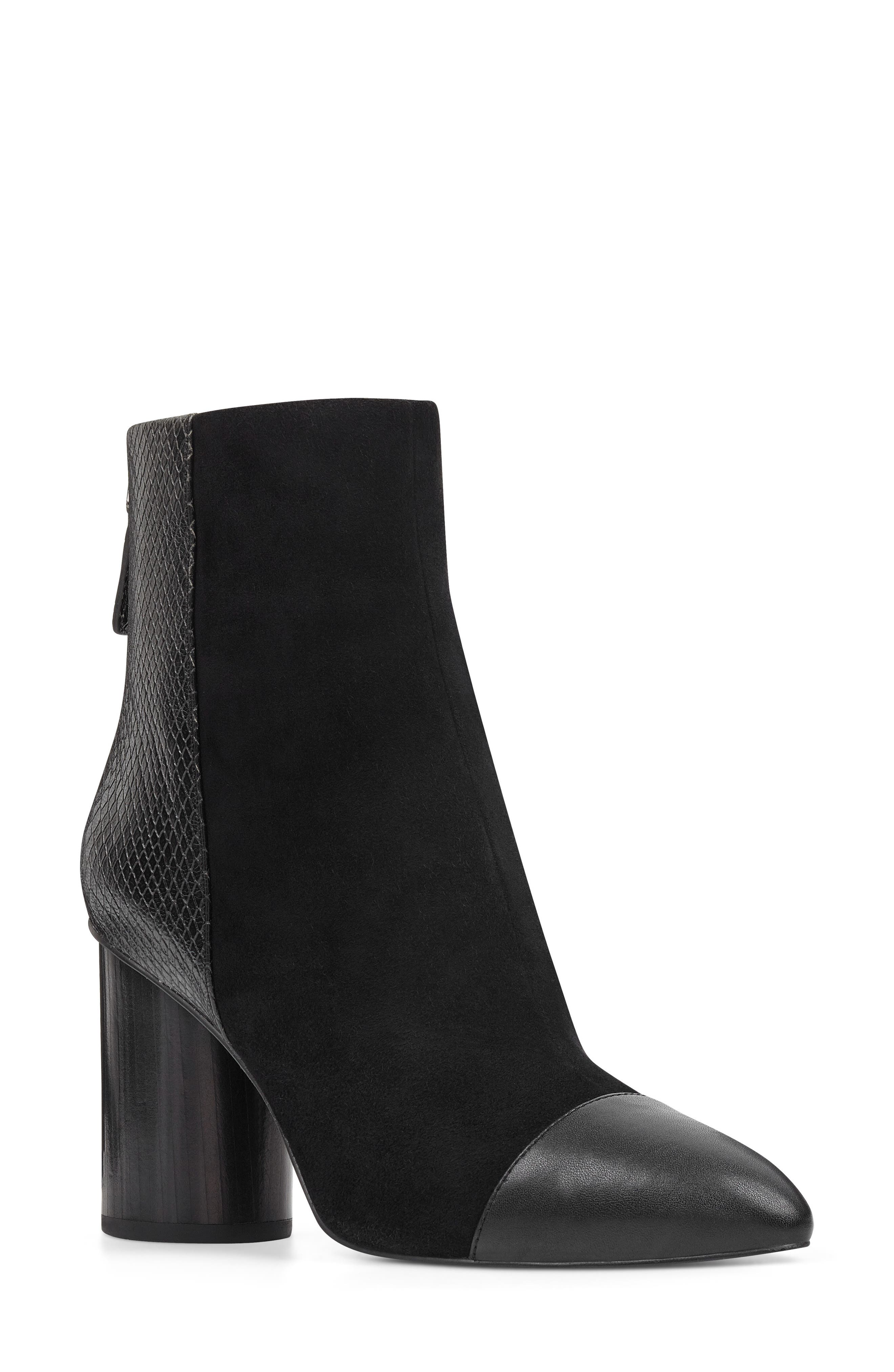 Nine West Cabrillo Cap Toe Bootie- Black