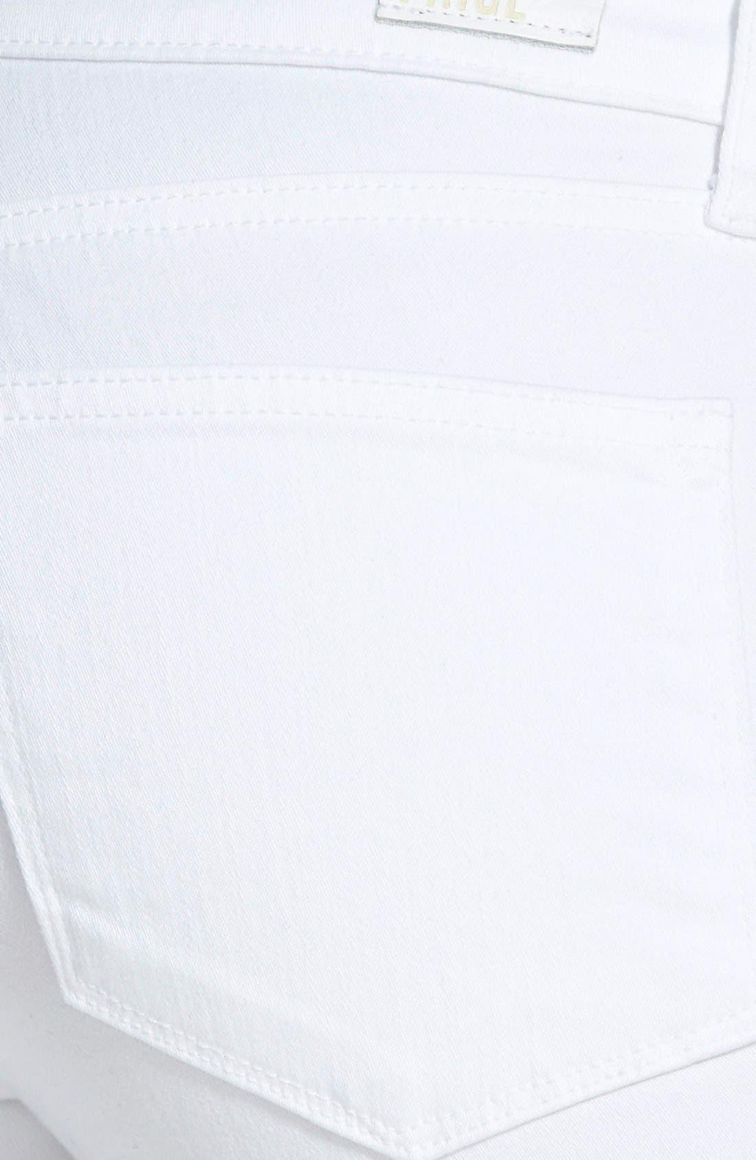 'Verdugo' Crop Skinny Jeans,                             Alternate thumbnail 4, color,                             ULTRA WHITE
