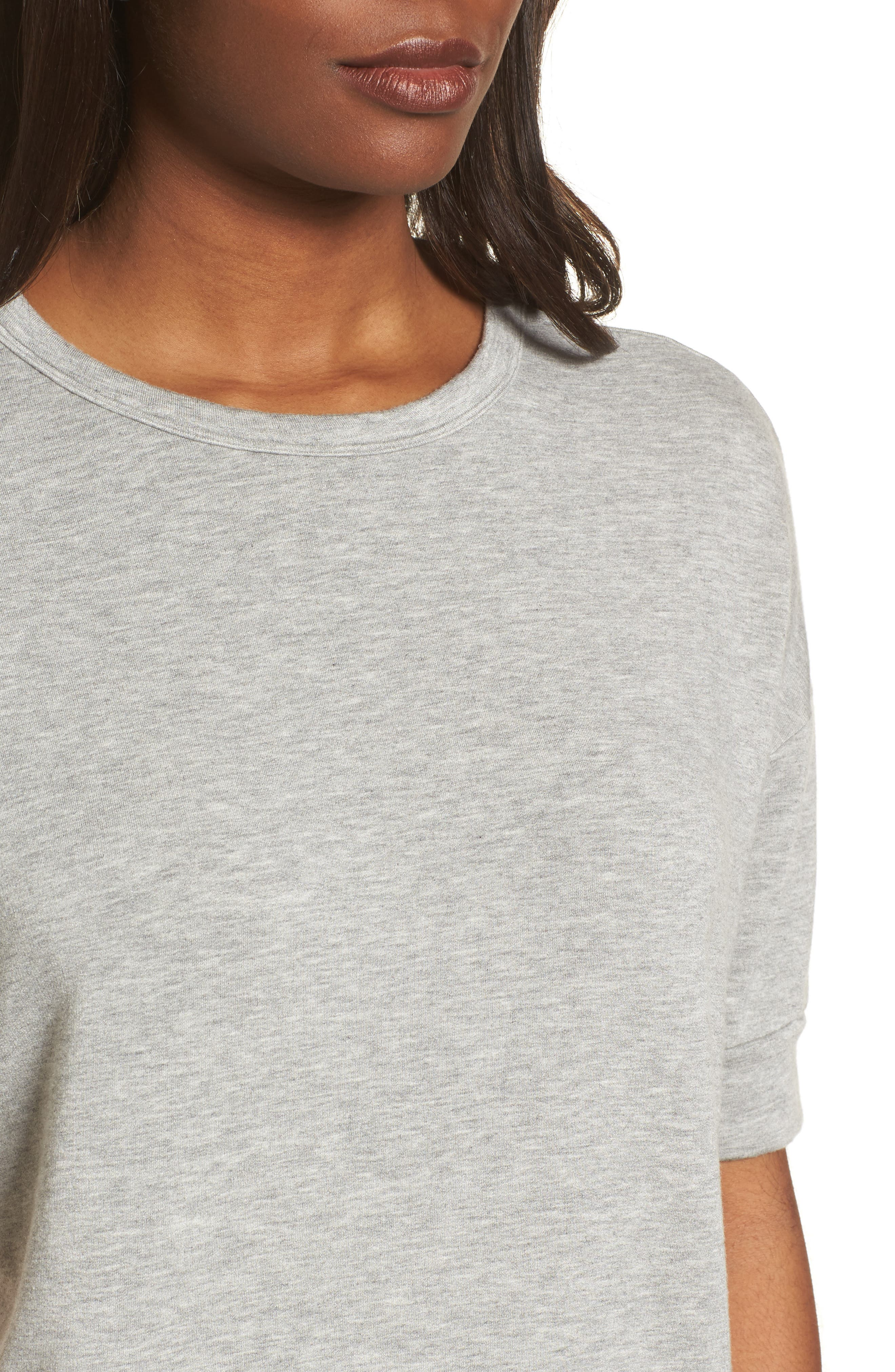 Short Sleeve Sweatshirt,                             Alternate thumbnail 4, color,                             050