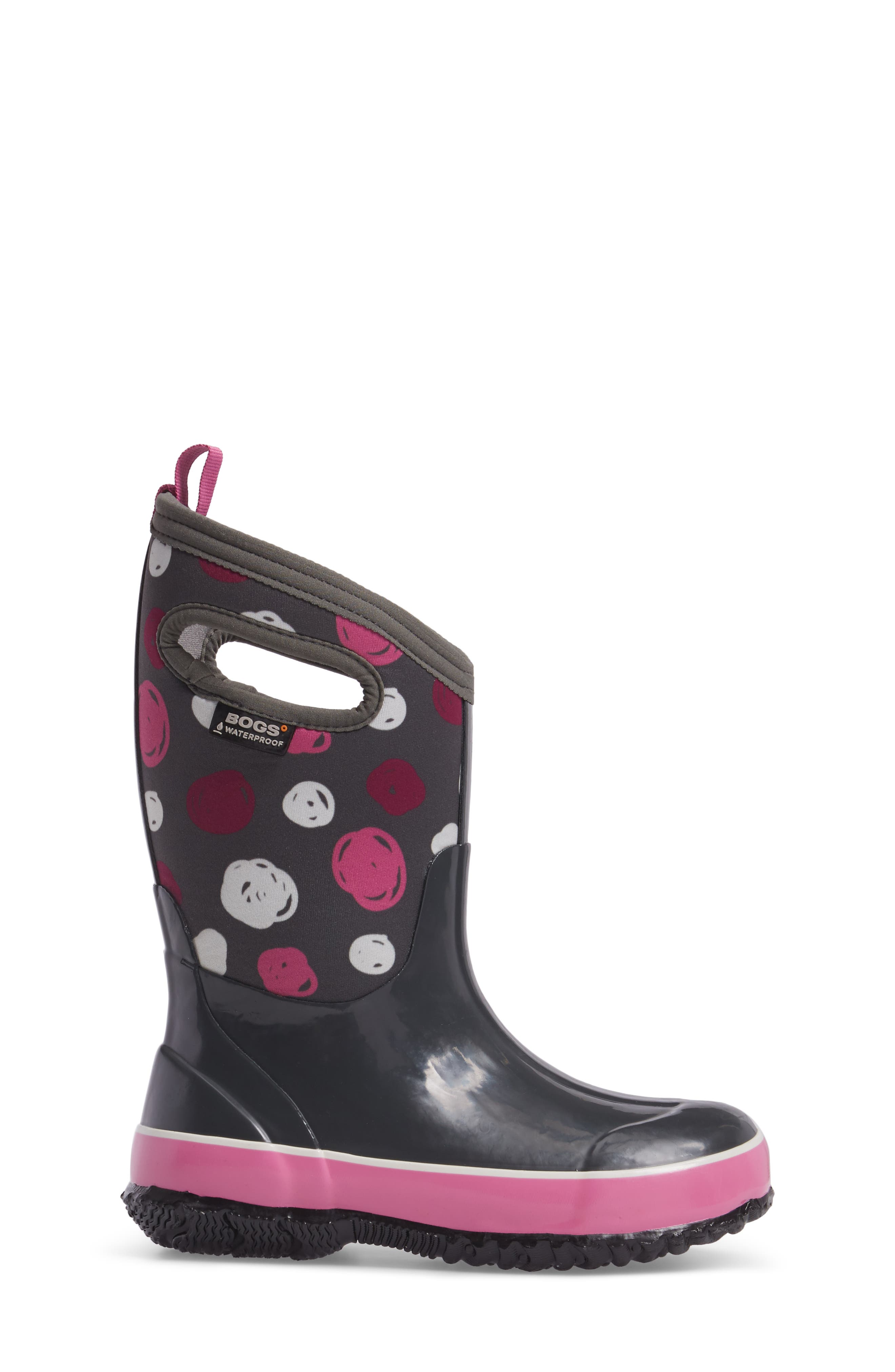 Classic Sketched Dots Insulated Waterproof Boot,                             Alternate thumbnail 9, color,