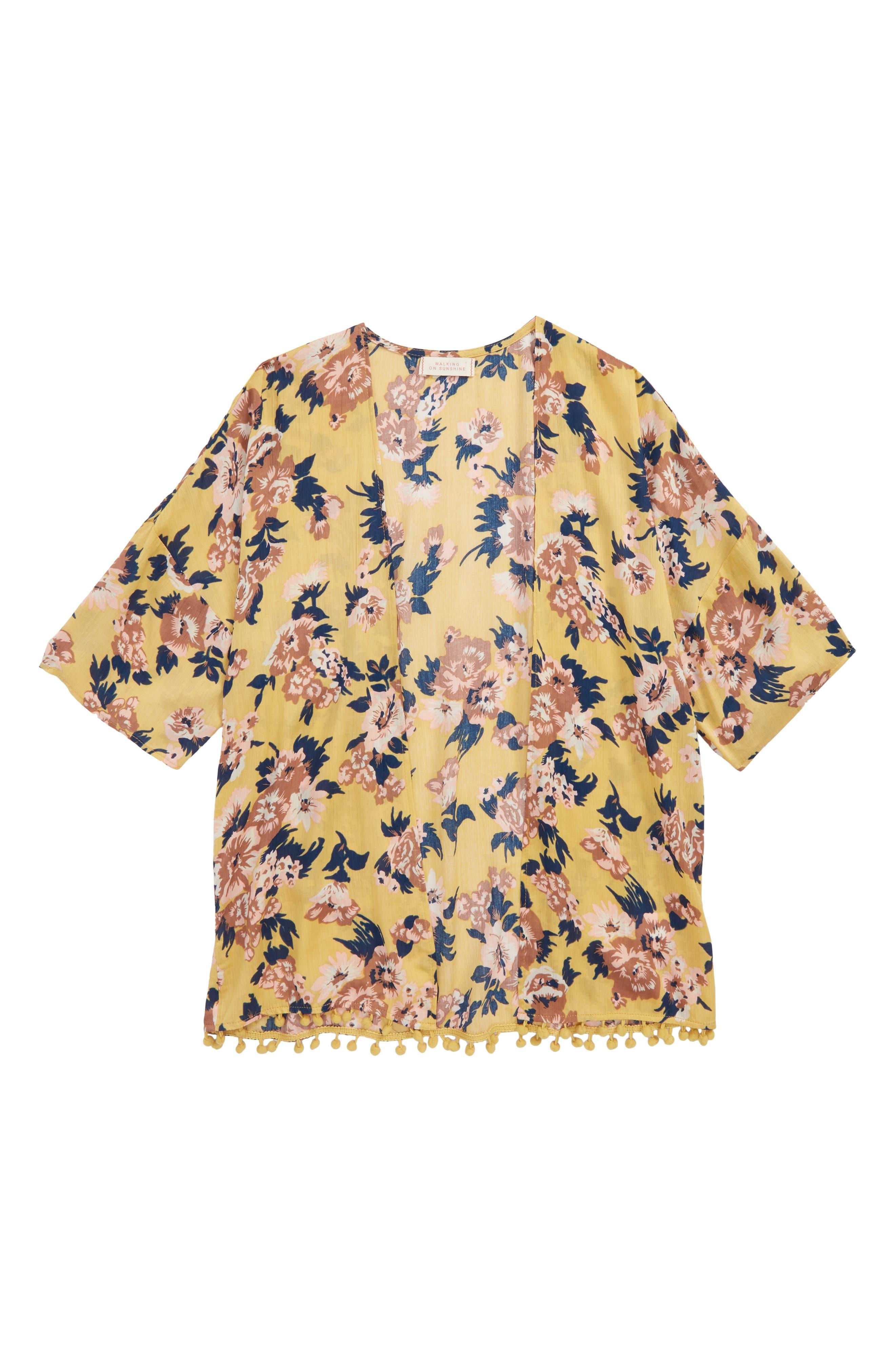 Floral Kimono,                             Main thumbnail 1, color,                             700