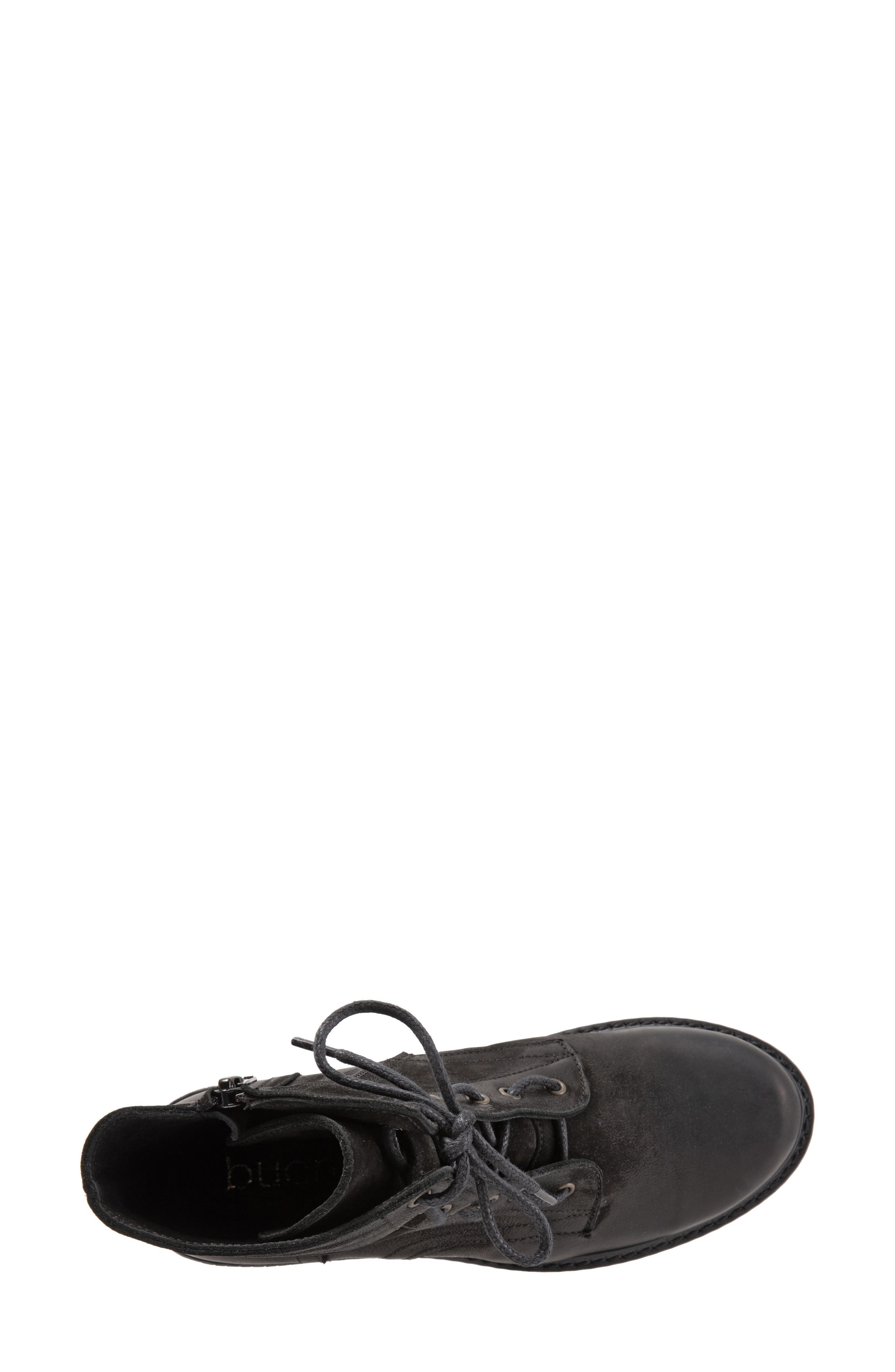 Getty Military Boot,                             Alternate thumbnail 5, color,                             BLACK NATURAL LEATHER
