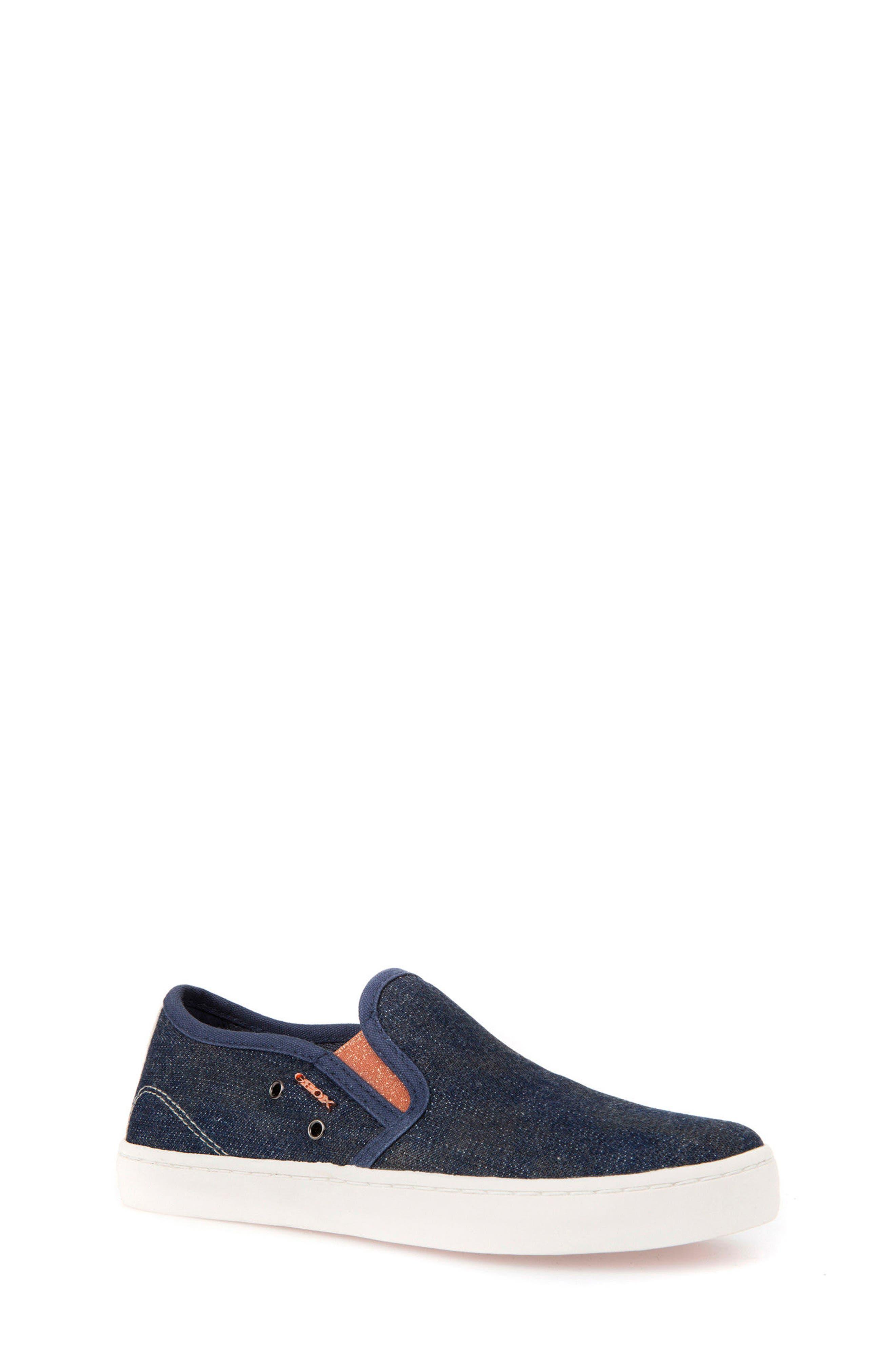 Jr Kiwi Slip-On Waterproof Sneaker,                         Main,                         color, JEANS