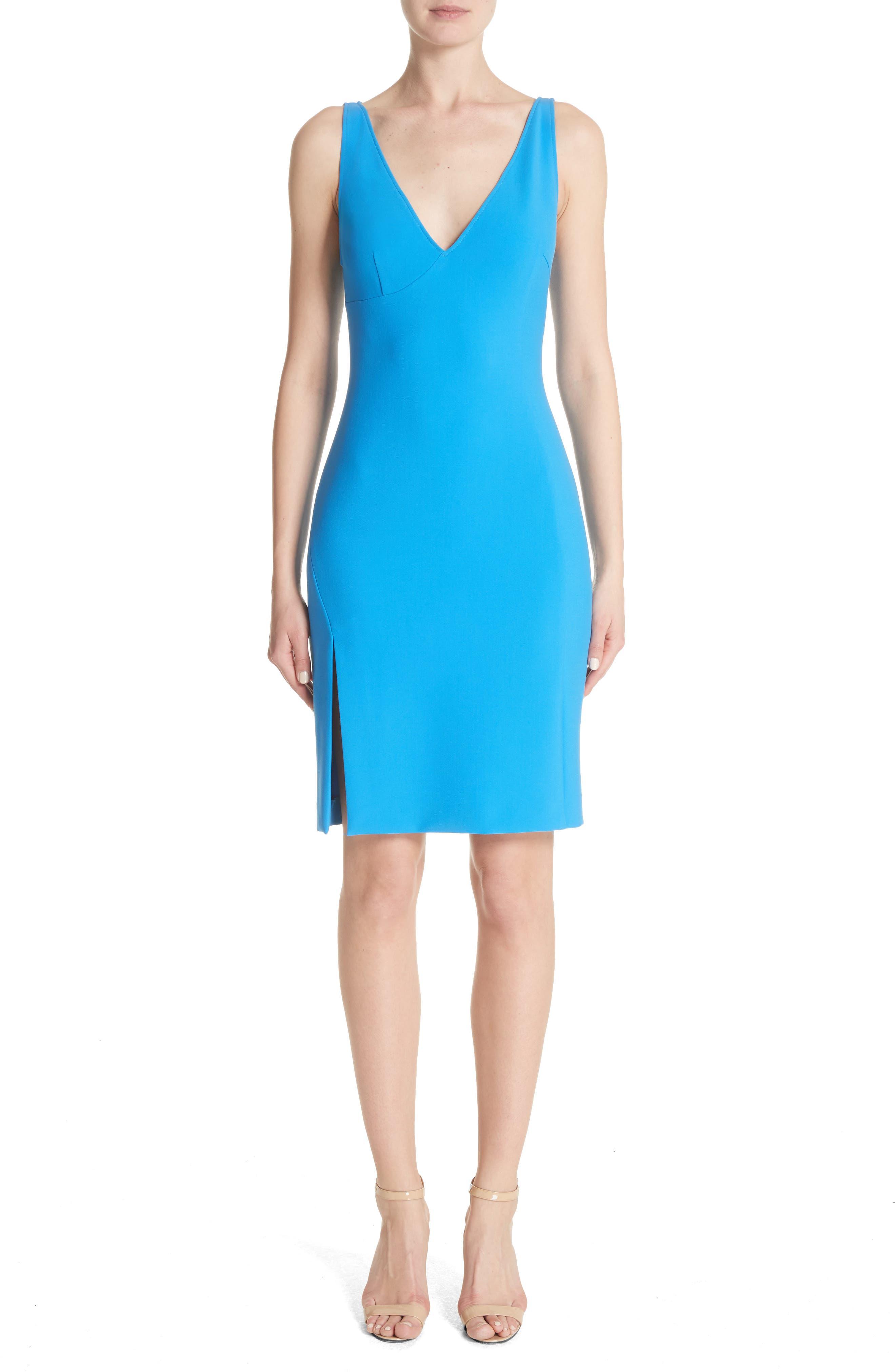 Stretch Cady Sheath Dress,                             Main thumbnail 1, color,